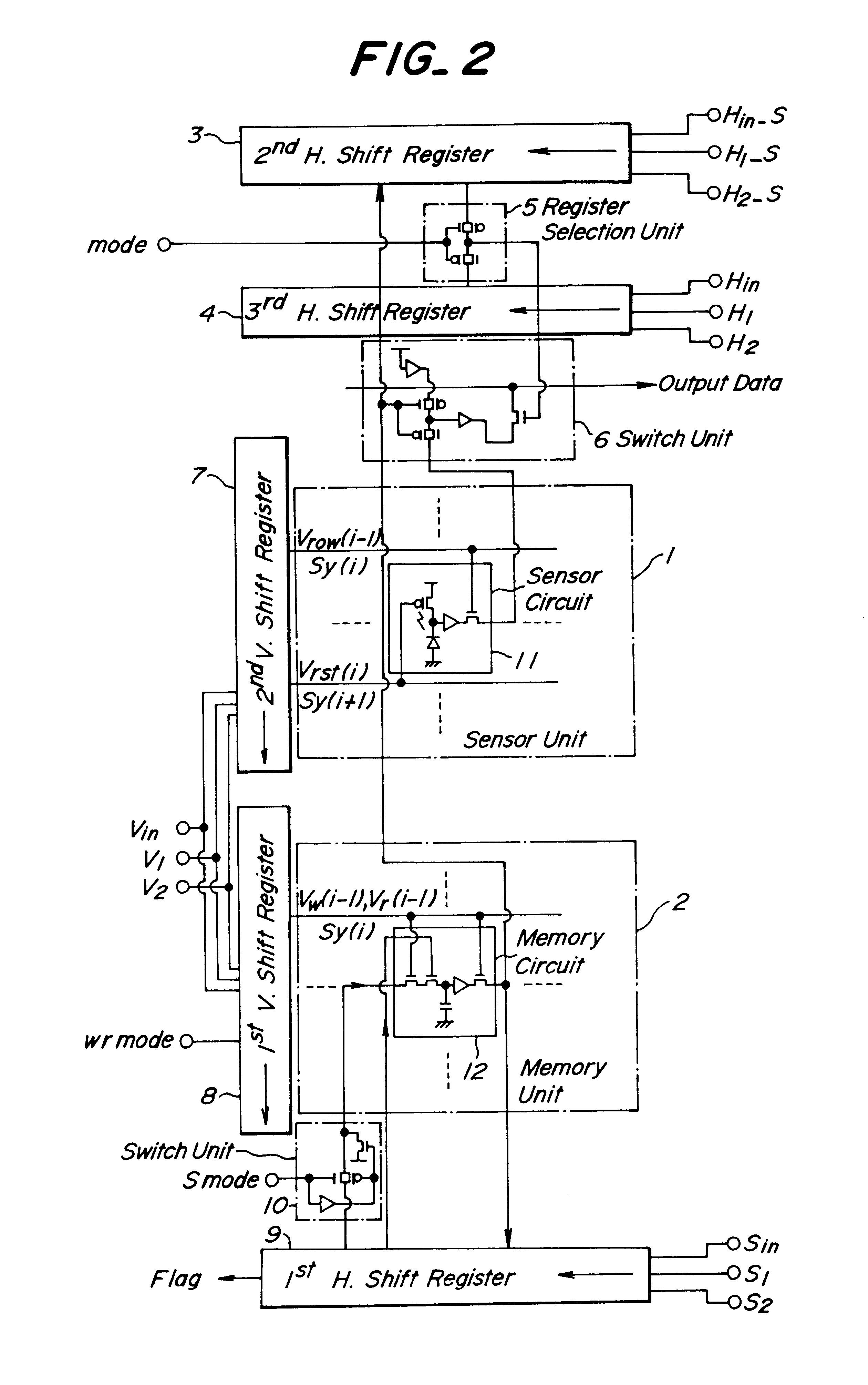 Patent Us6486912 Image Sensor With Sampling Control System Shift Register Circuit Diagram Drawing
