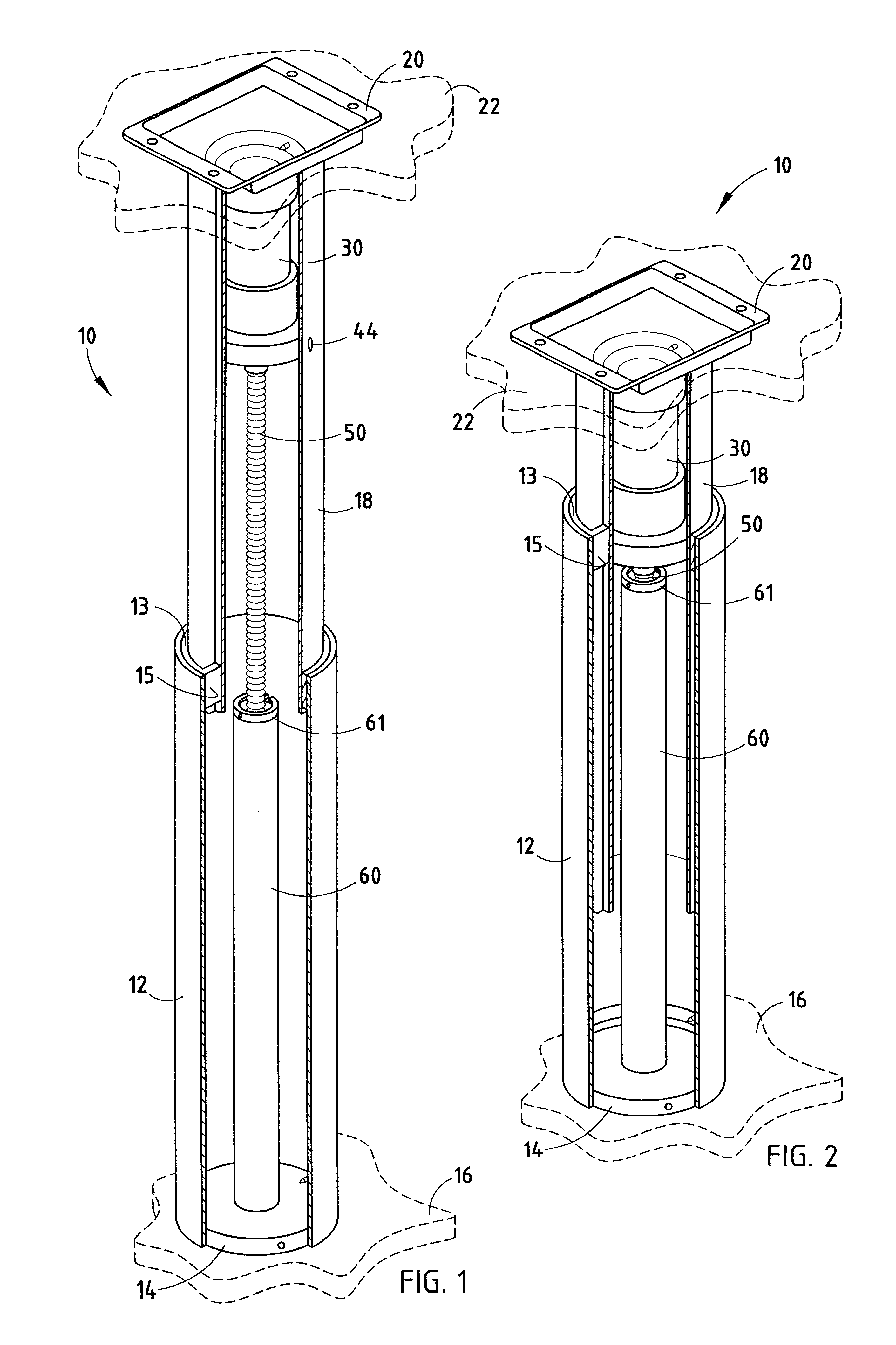 Patent US6494005 Telescopic Linear Actuator Google Patents