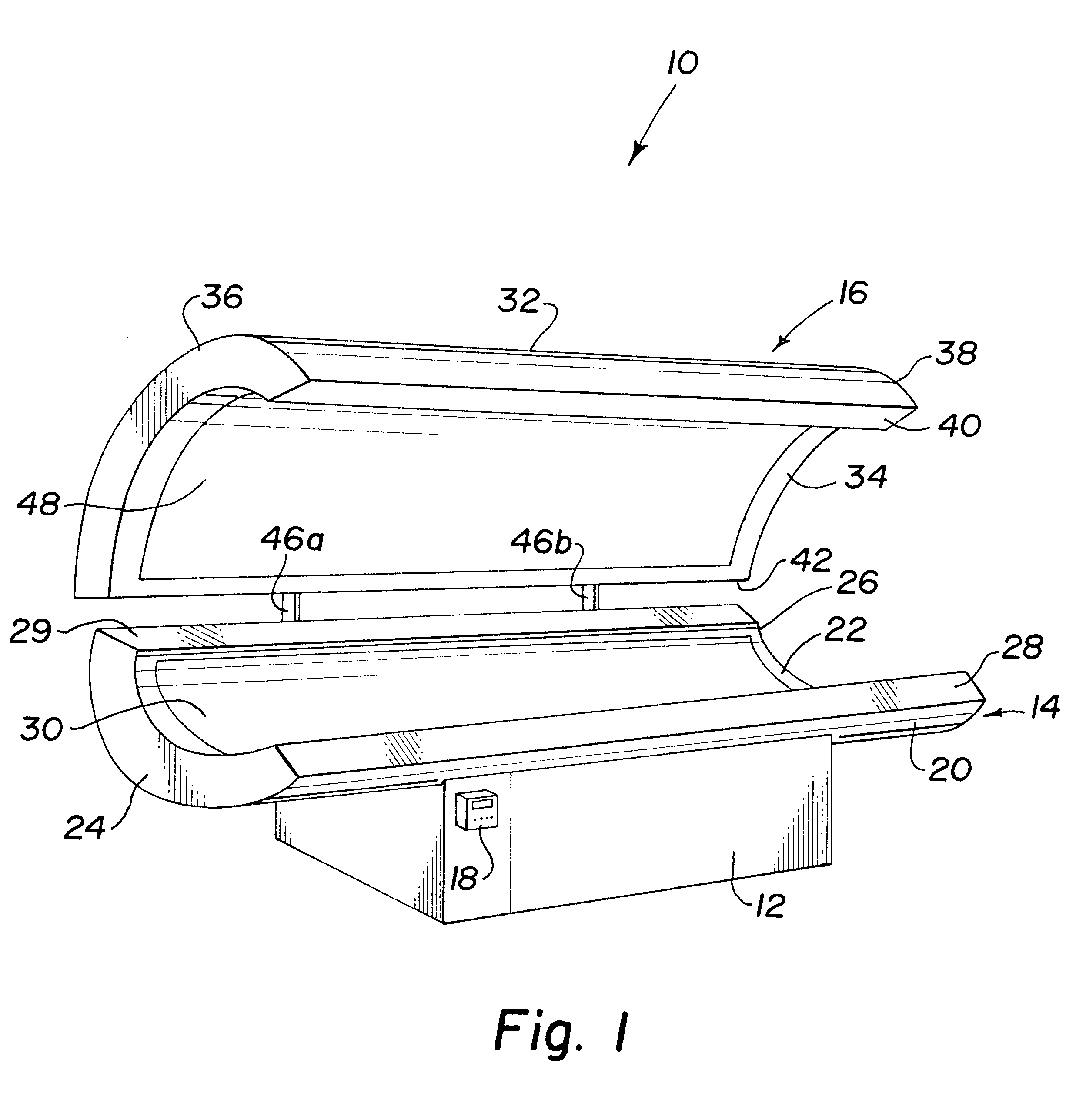 Patent Us6494901 - Tanning Bed