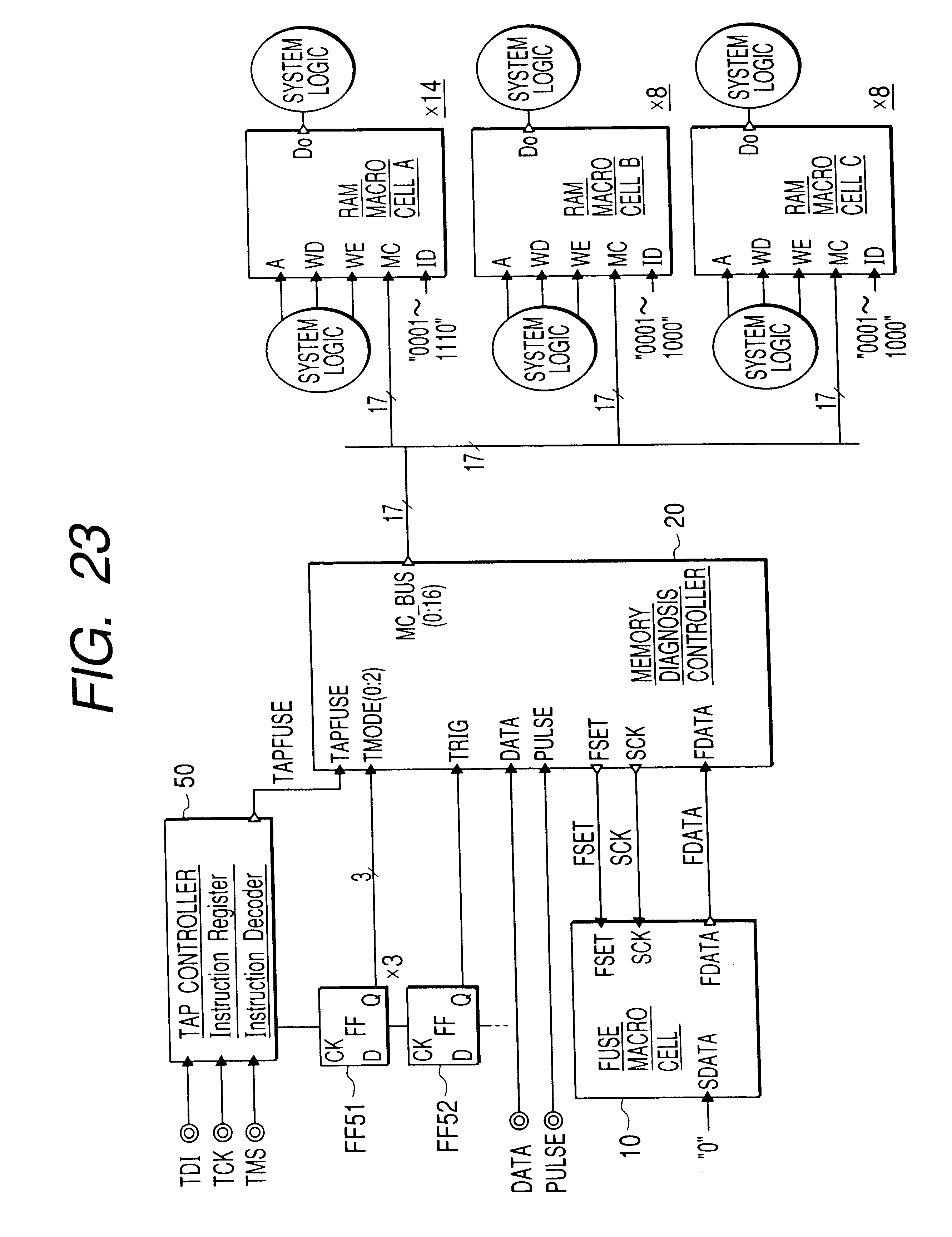 Patent Us6496431 Semiconductor Integrated Circuit Google Patents Logic Diagram Of Ram Drawing
