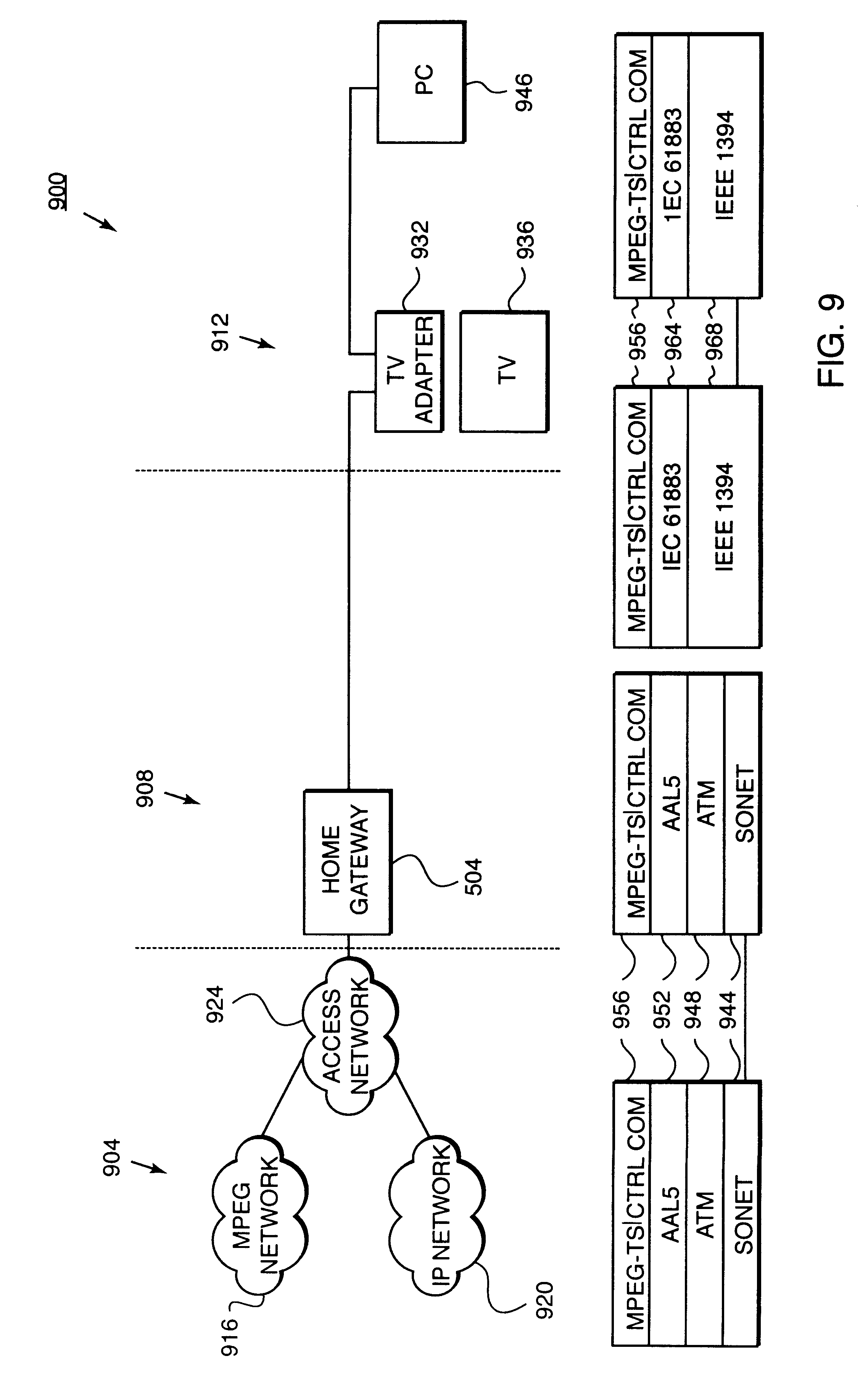 Patent Us6496862 Remote Monitoring And Control Of Devices Ieee 1394 Wiring Diagram Drawing