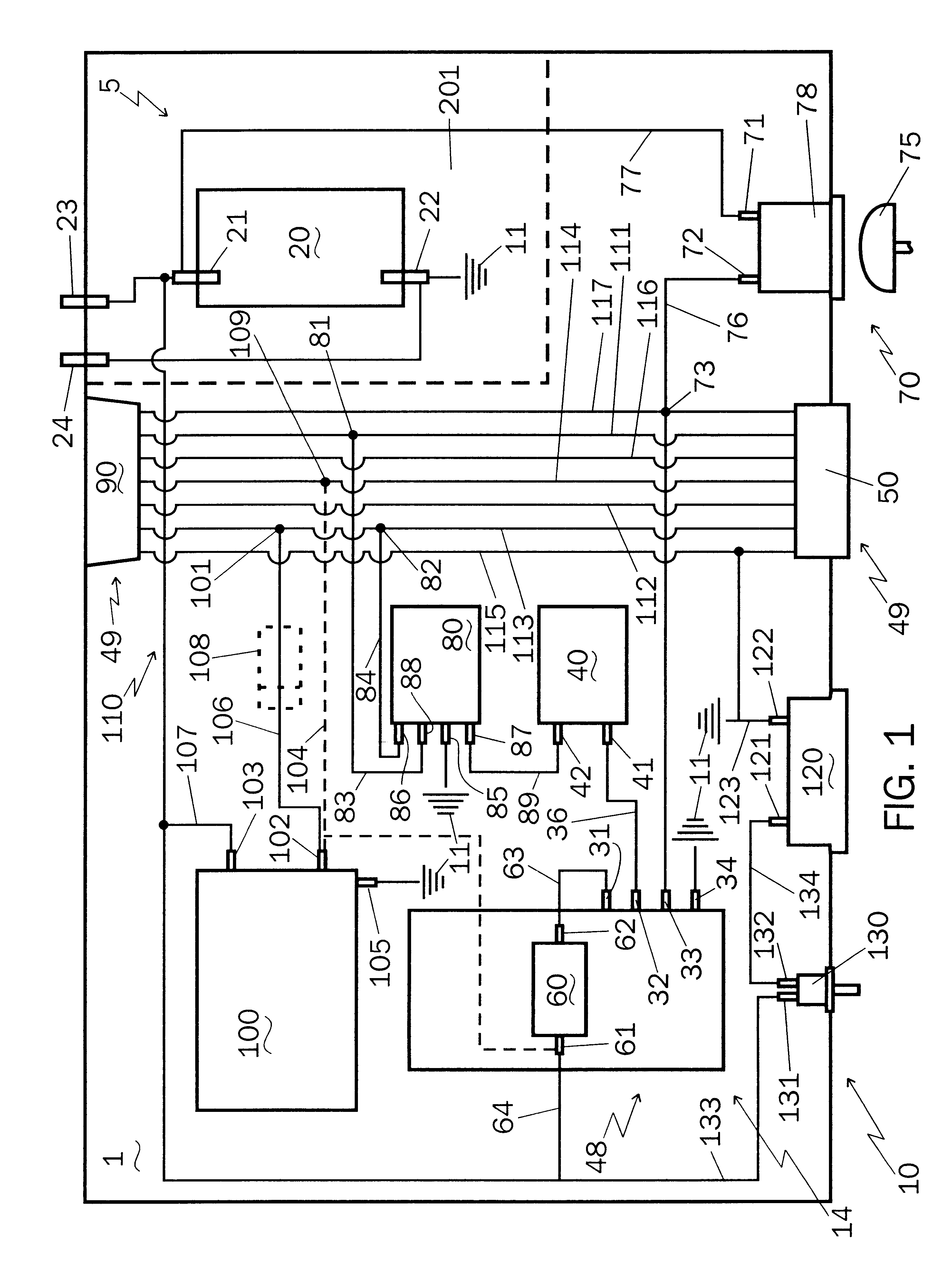 US06499814 20021231 D00001 patent us6499814 brake control system, self contained electronic tekonsha breakaway system wiring diagram at crackthecode.co