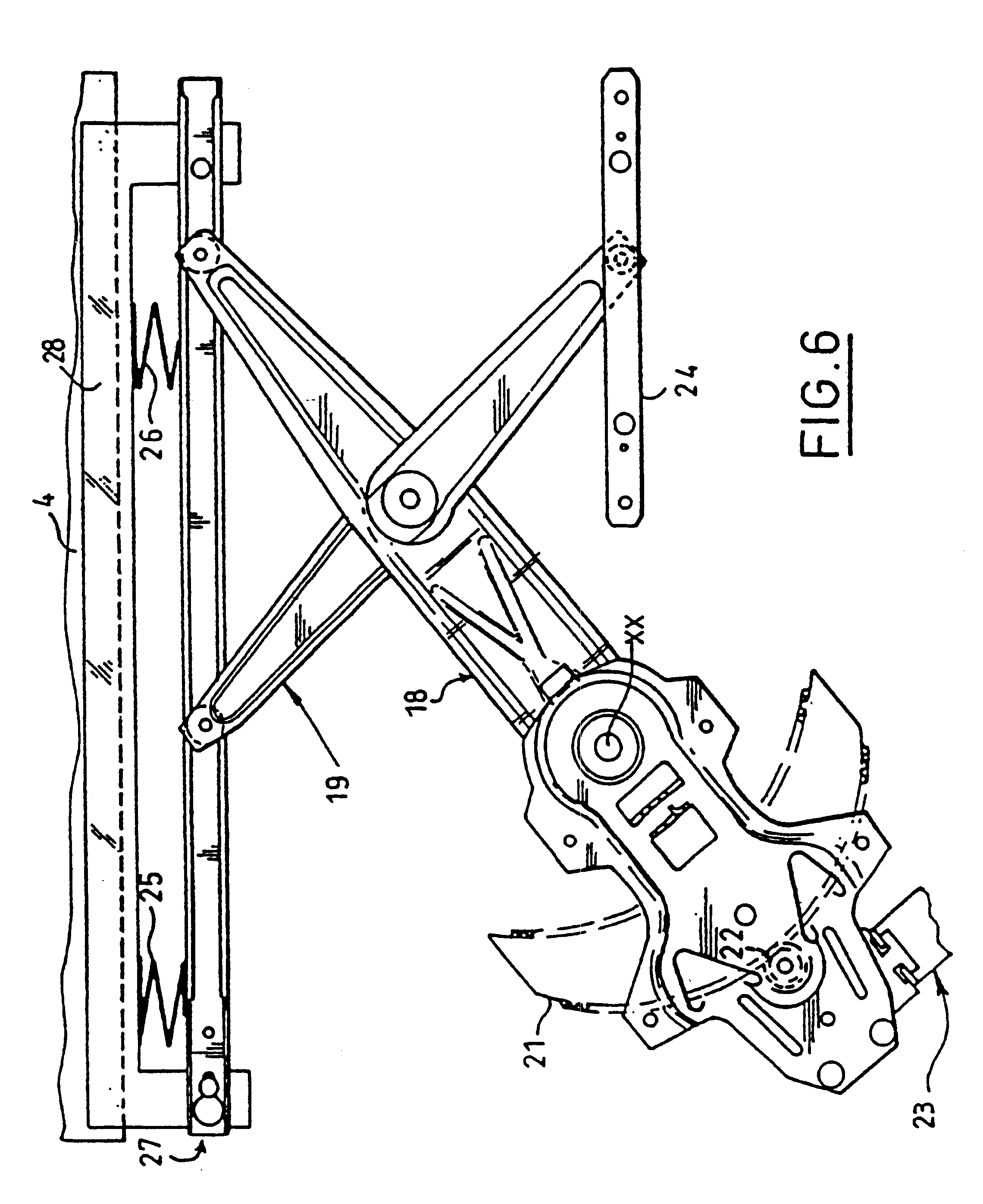 US06502352 20030107 D00004 patent us6502352 electric window regulator having a spring for window regulator diagram at soozxer.org