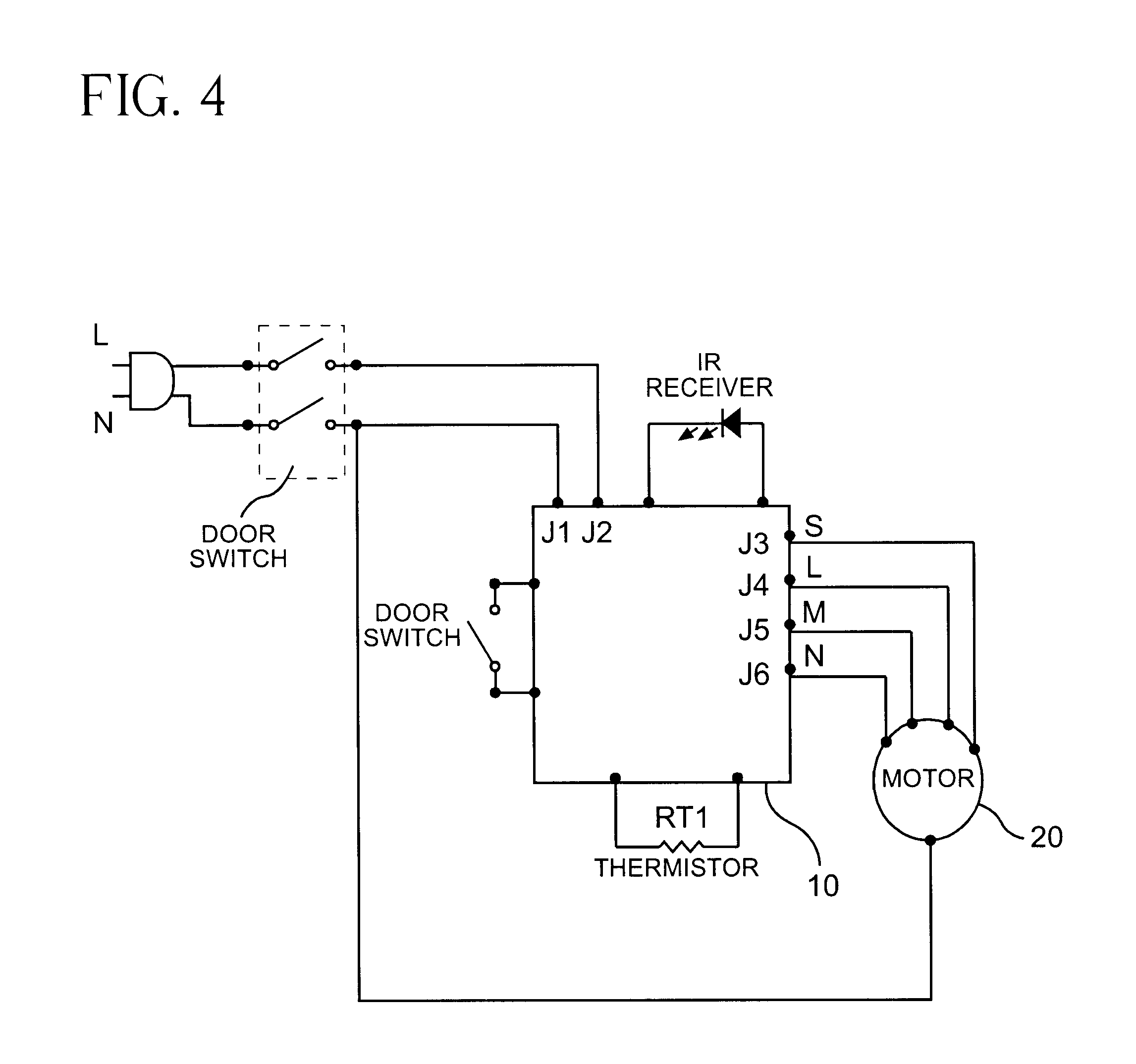 US06507282 20030114 D00004 patent us6507282 filter monitoring system using a thermistor bionaire fan motor wiring diagram at gsmportal.co