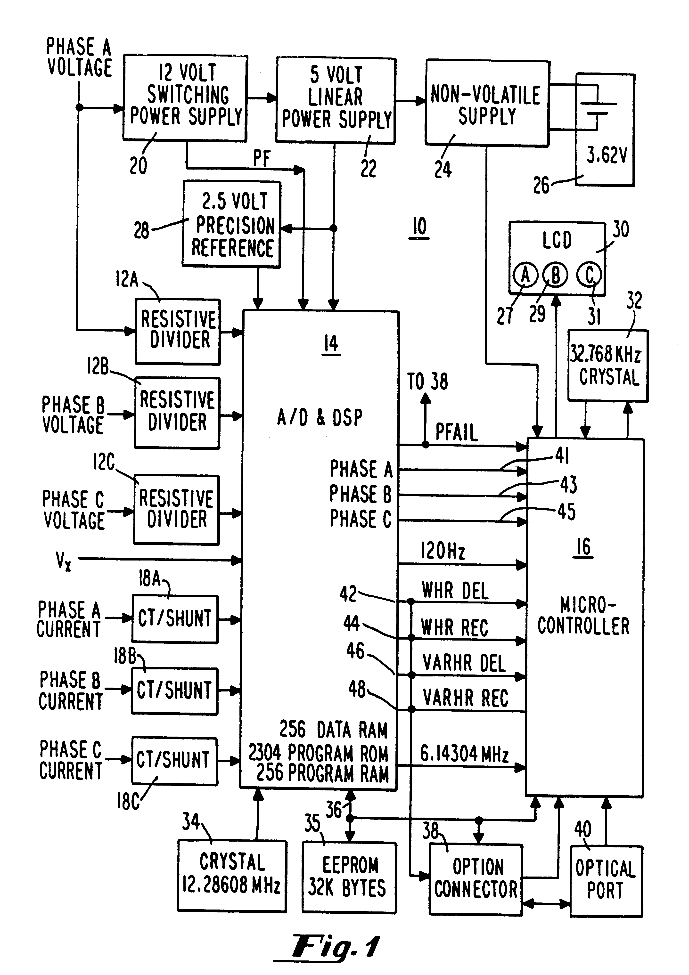 Patent Us6507794 Energy Meter With Power Quality Monitoring. Patent Drawing. Wiring. Case 222 Wiring Diagram 1 2 Hp Kohler At Scoala.co