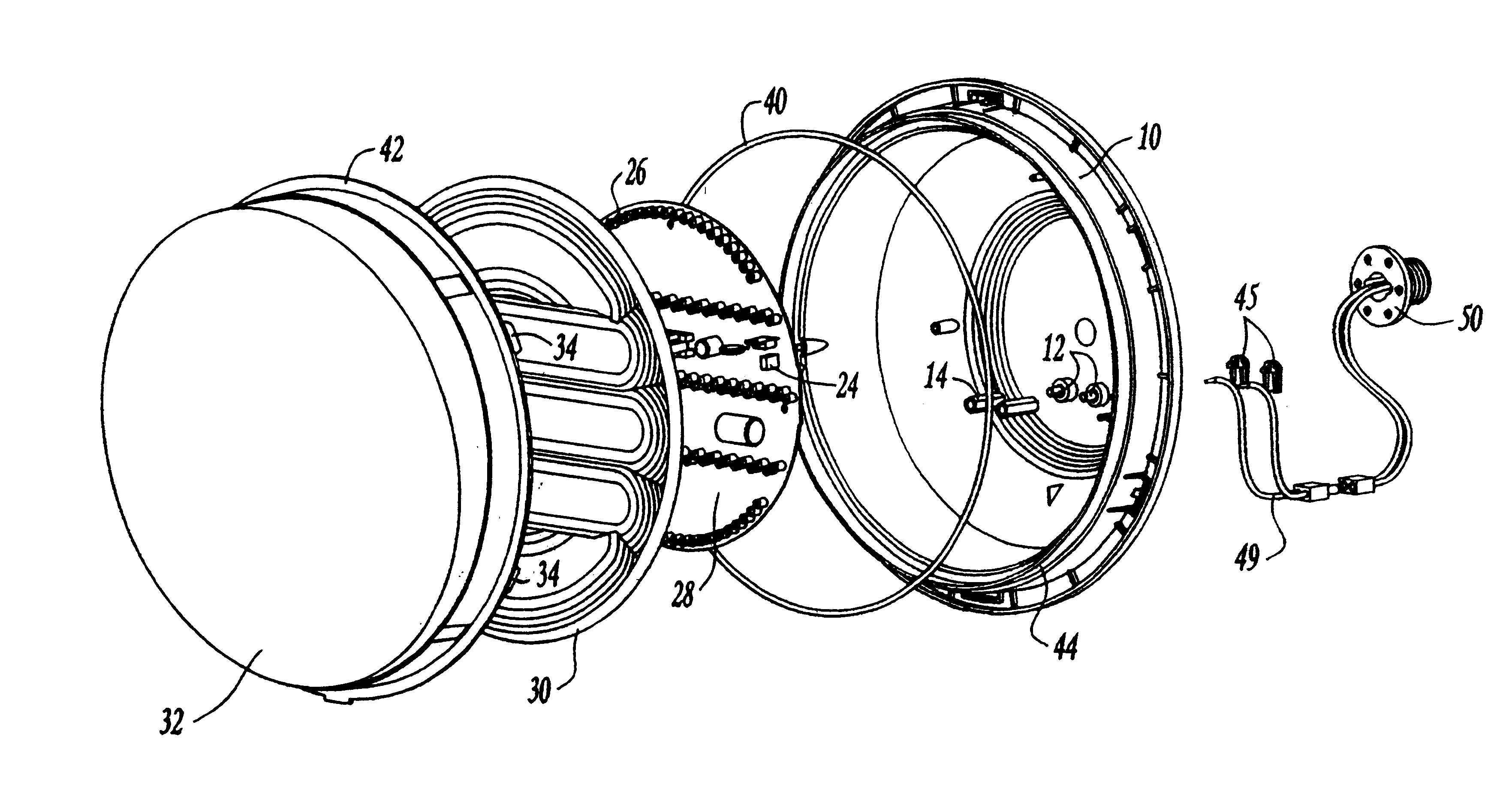 patent us6509840 - sun phantom led traffic signal