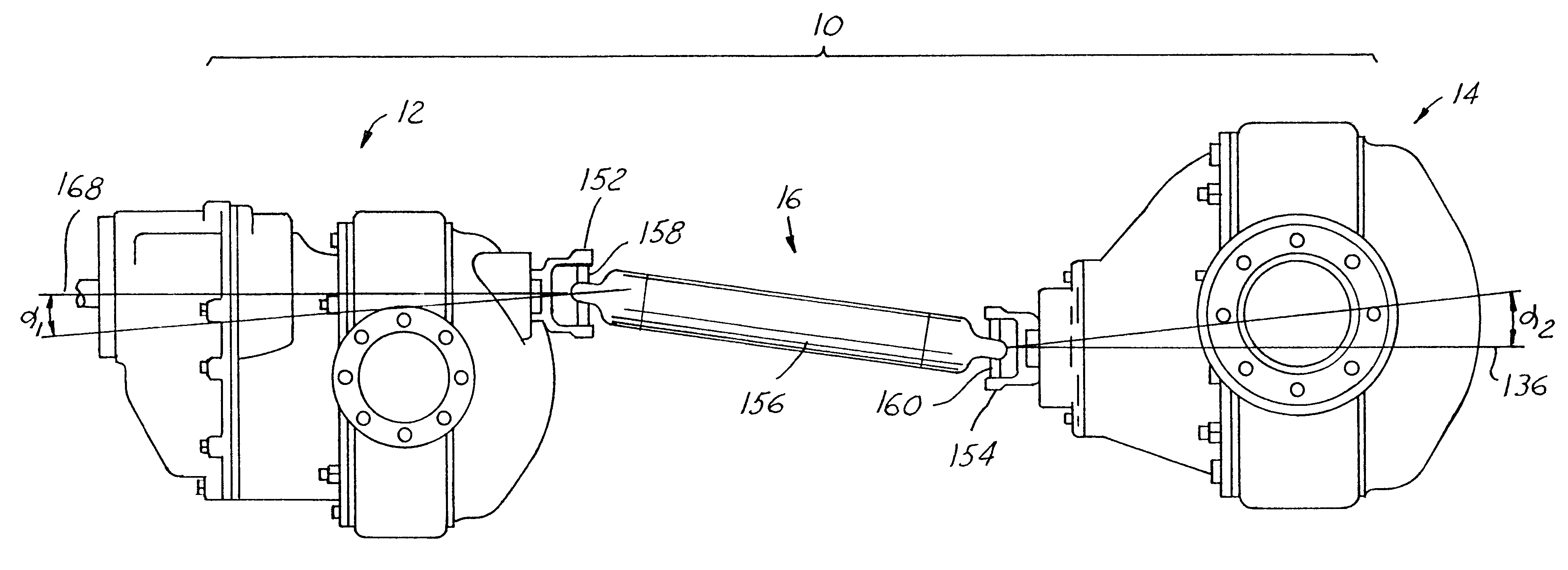 Forwarder Rear Axle : Patent us tandem axle assembly with different