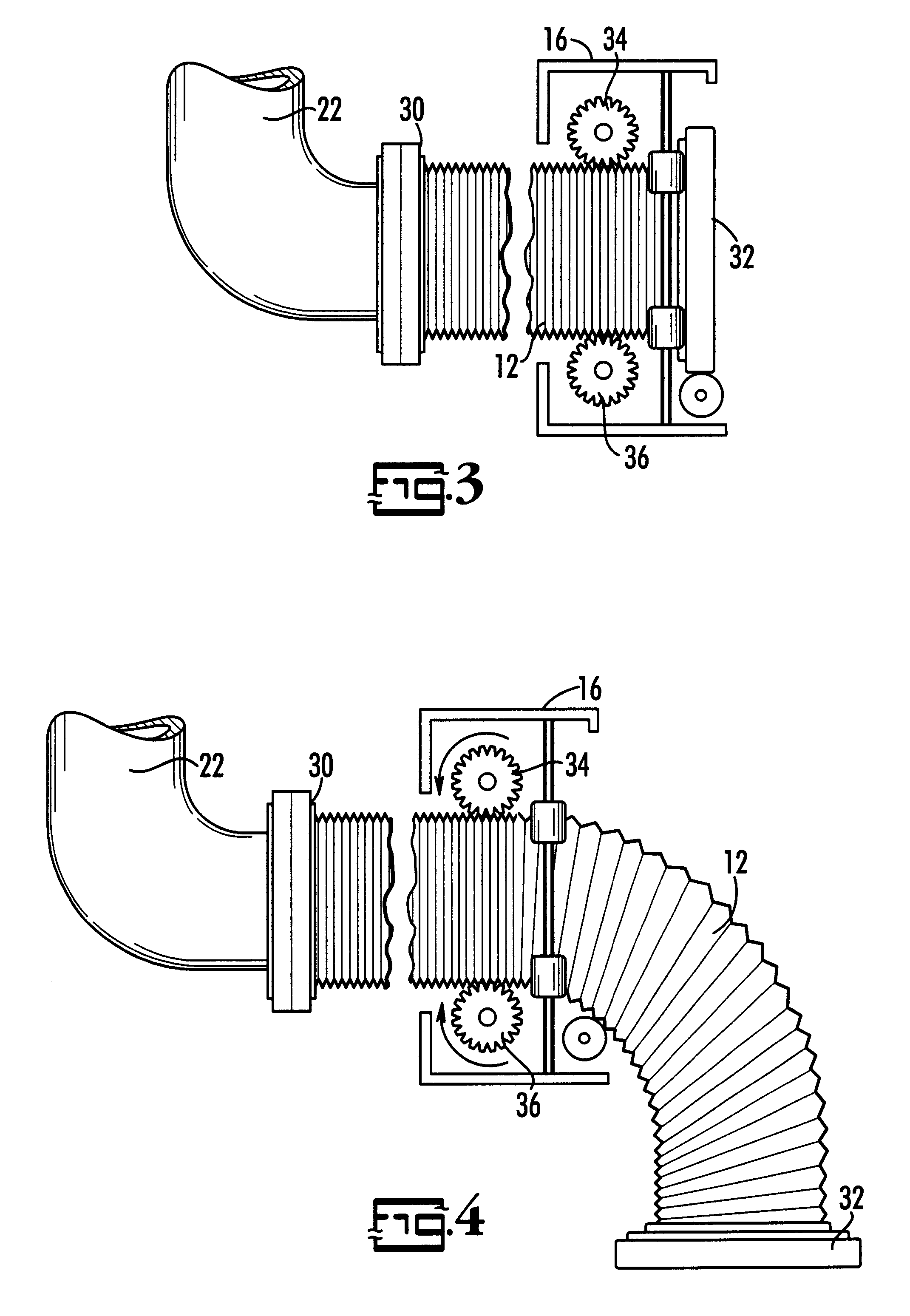 Patent Us6516836 Motorized Waste Hose For Recreational Vehicle Rv Blackwater Diagrams Moreover Thetford Toilet Parts Diagram Drawing