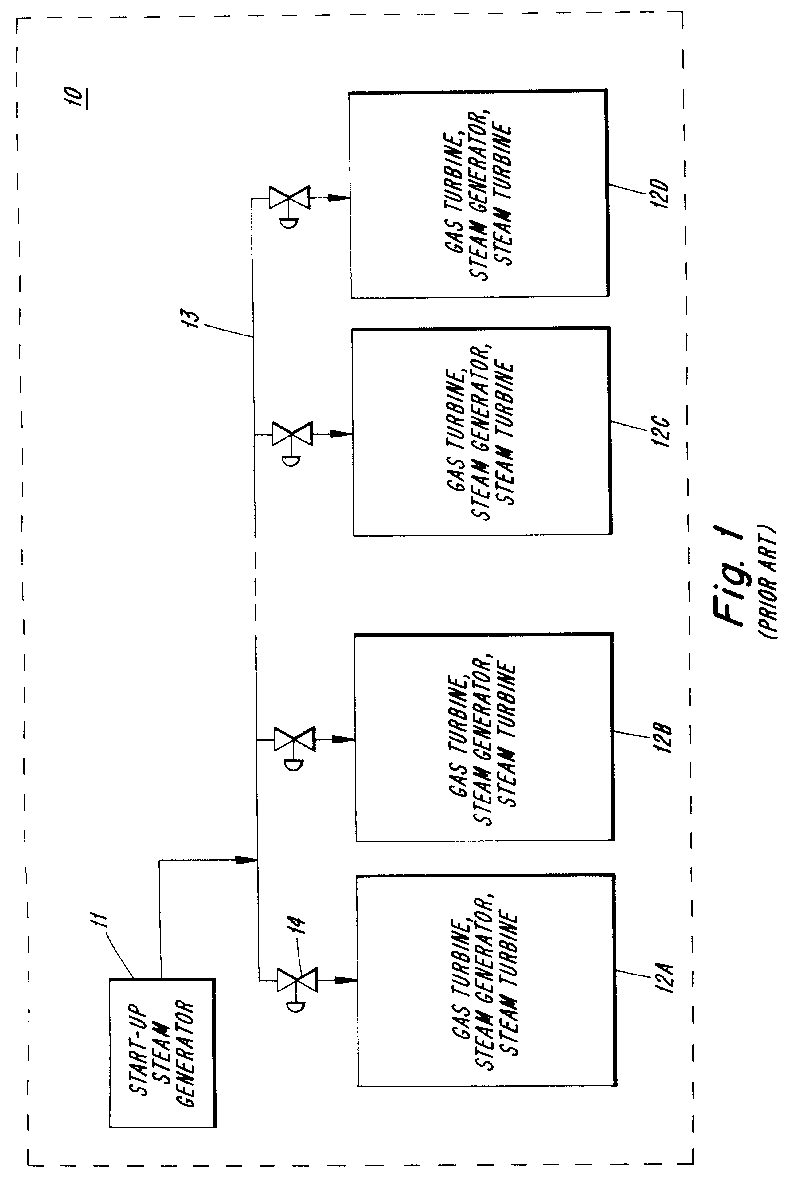 Patente US Method for operating a bined cycle power