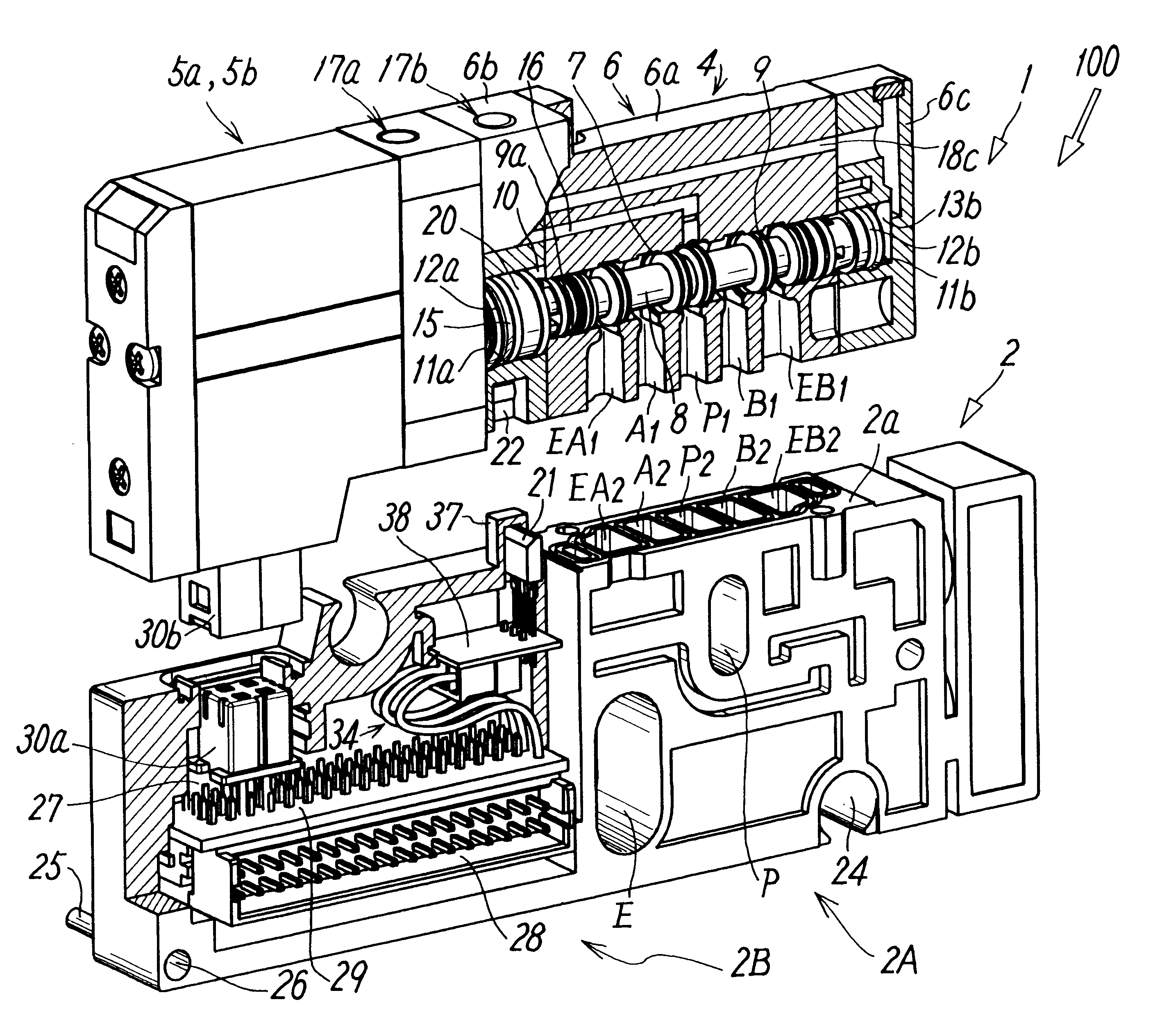 Patent Us6520202 Manifold Valve Having Position Detecting Function Smc Wiring Diagram Drawing
