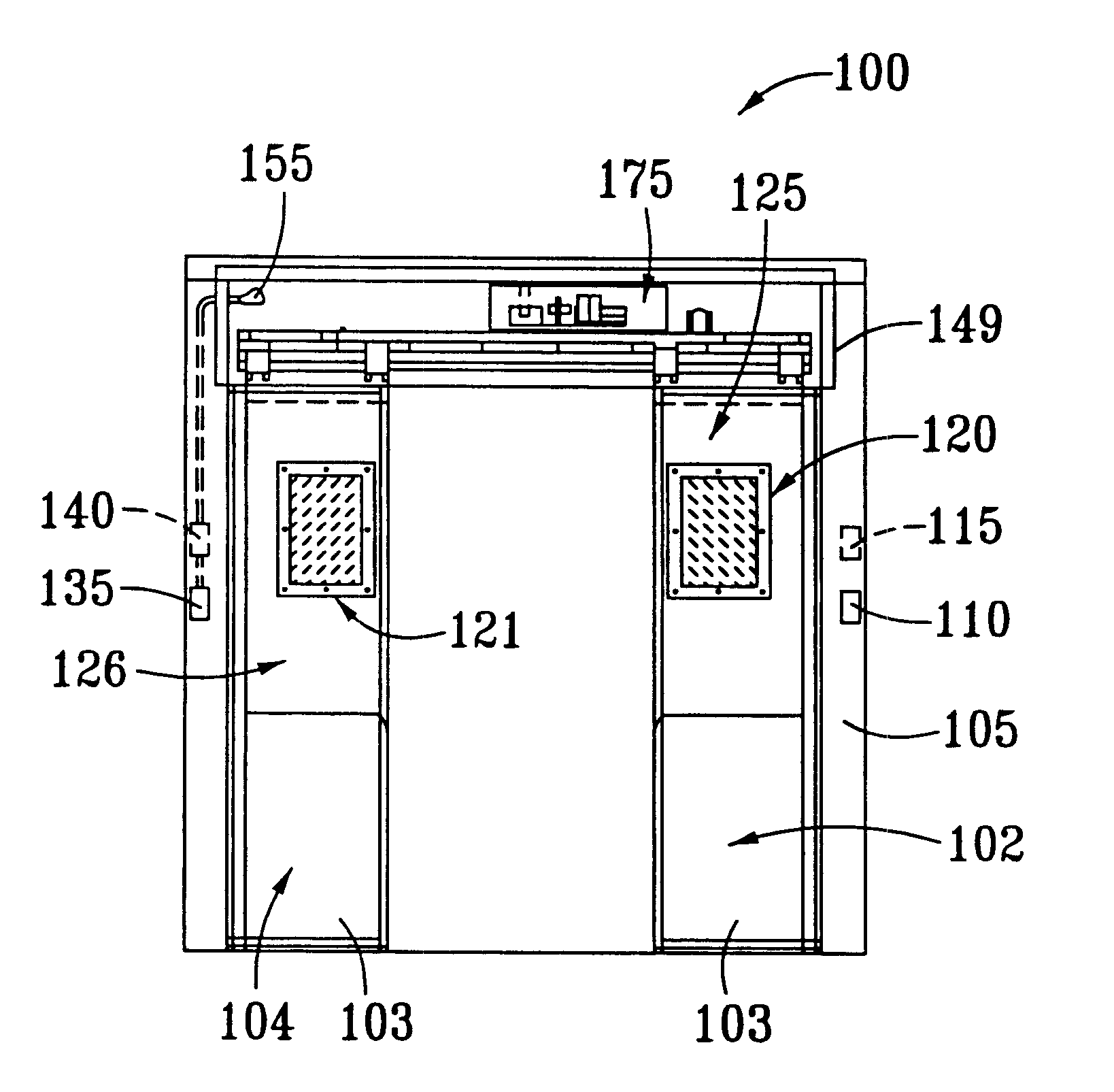 US06525659 20030225 D00000 patent us6525659 automatic sliding door system for refrigerator dorma automatic sliding door wiring diagram at soozxer.org