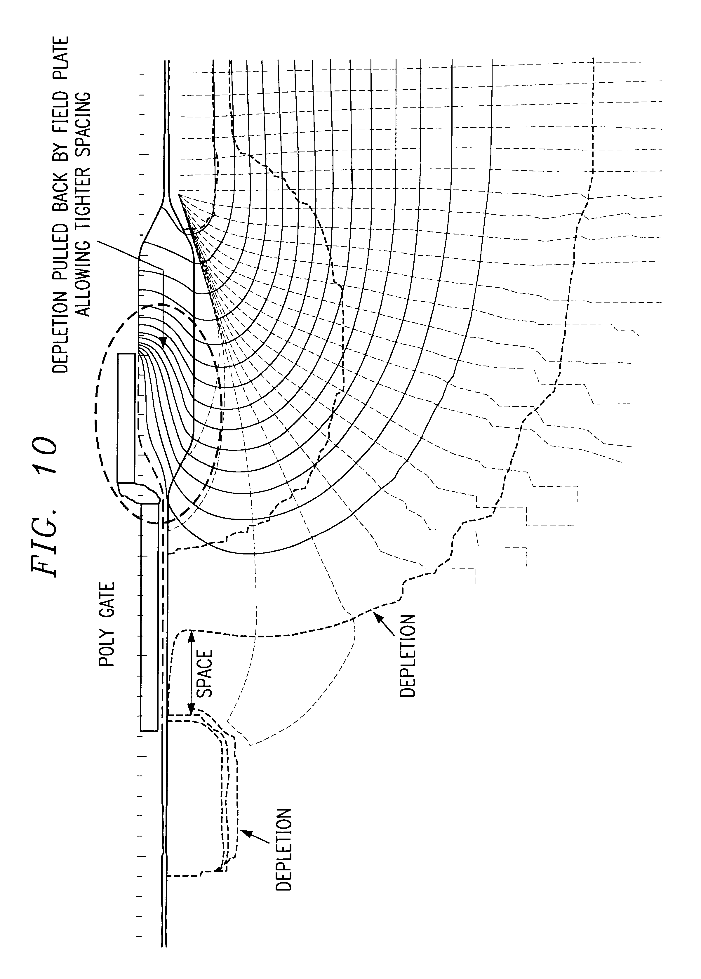 Patent US6531355 - LDMOS device with self-aligned RESURF region