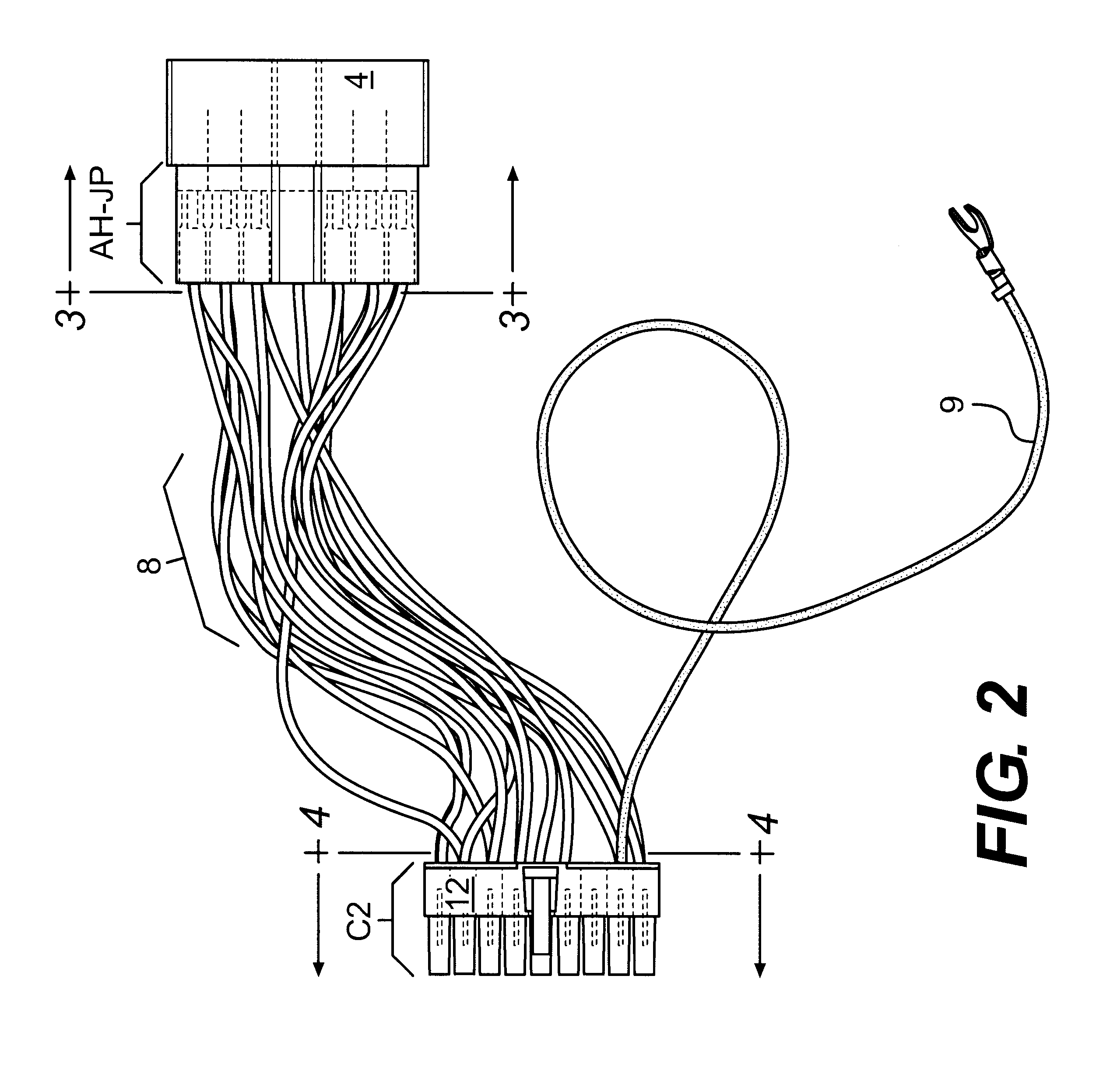 patent us6531657 adapter wire harness for installing different patent drawing