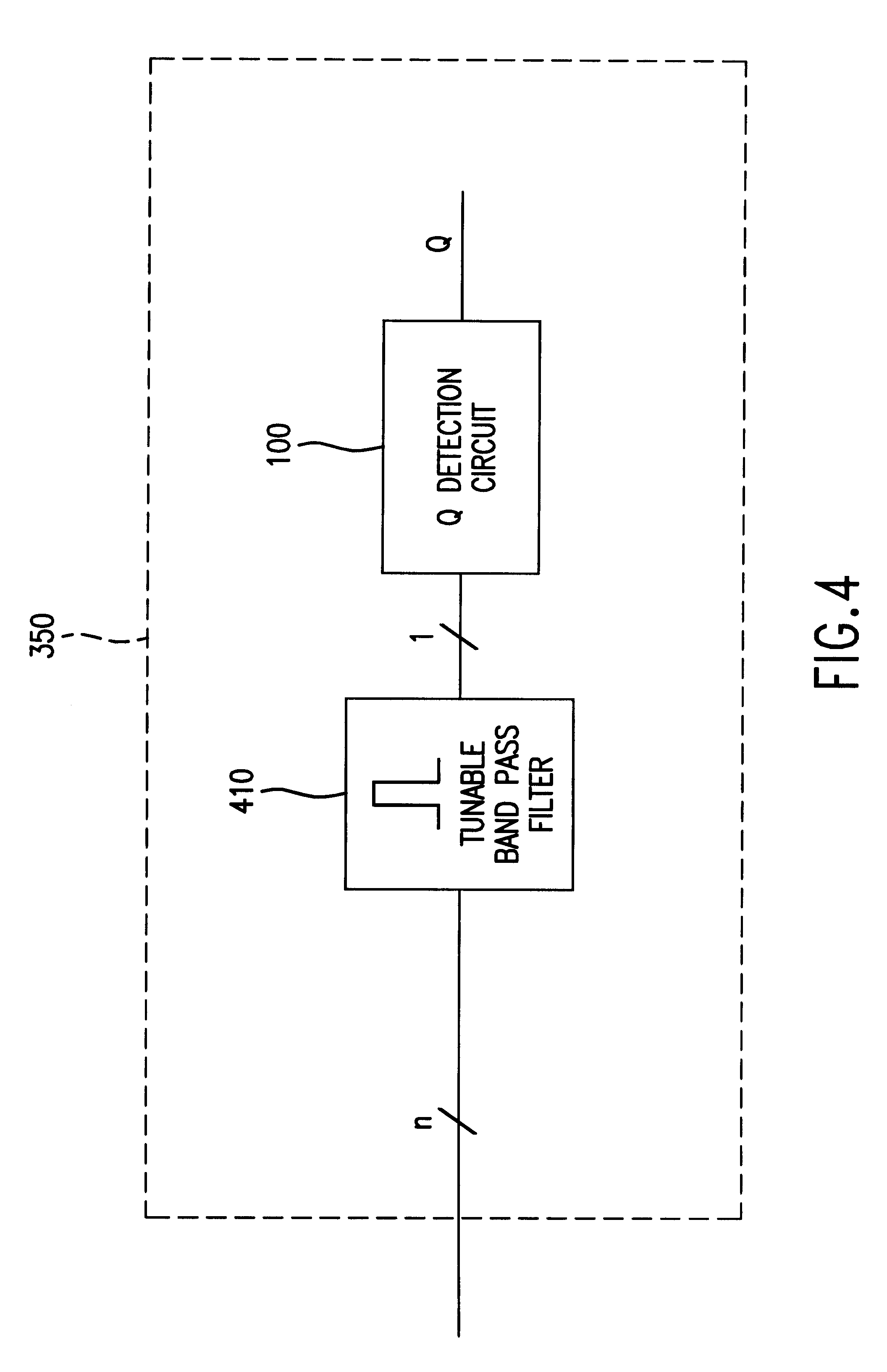 Patent Us6532087 Multiple Signal Q Tester Google Patents Tunable Band Pass Filter Circuit Drawing