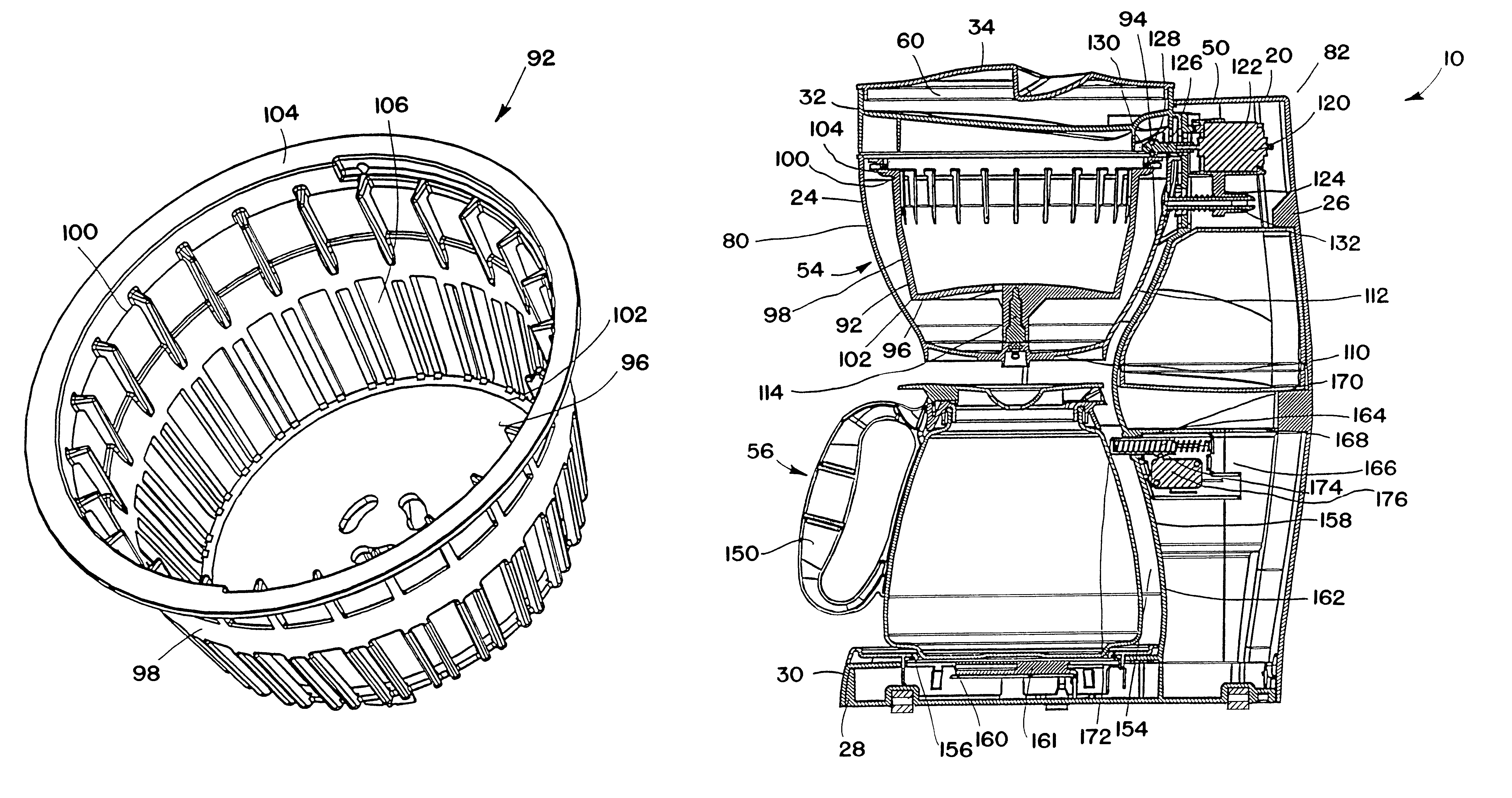 Keurig Coffee Maker Exploded View : Patent US6532862 - Coffee maker - Google Patents