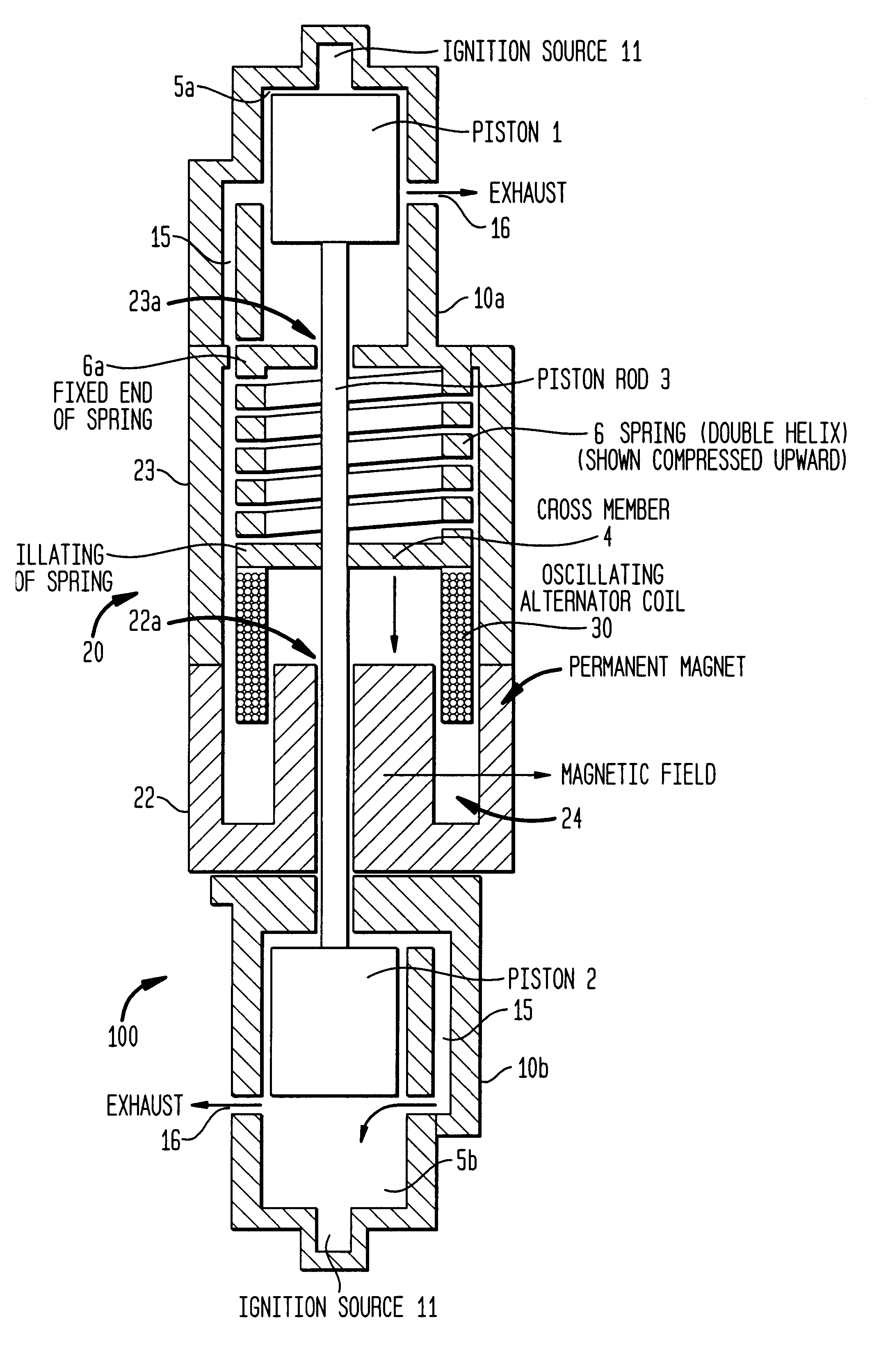 patent us6532916 opposed piston linearly oscillating power unit patents