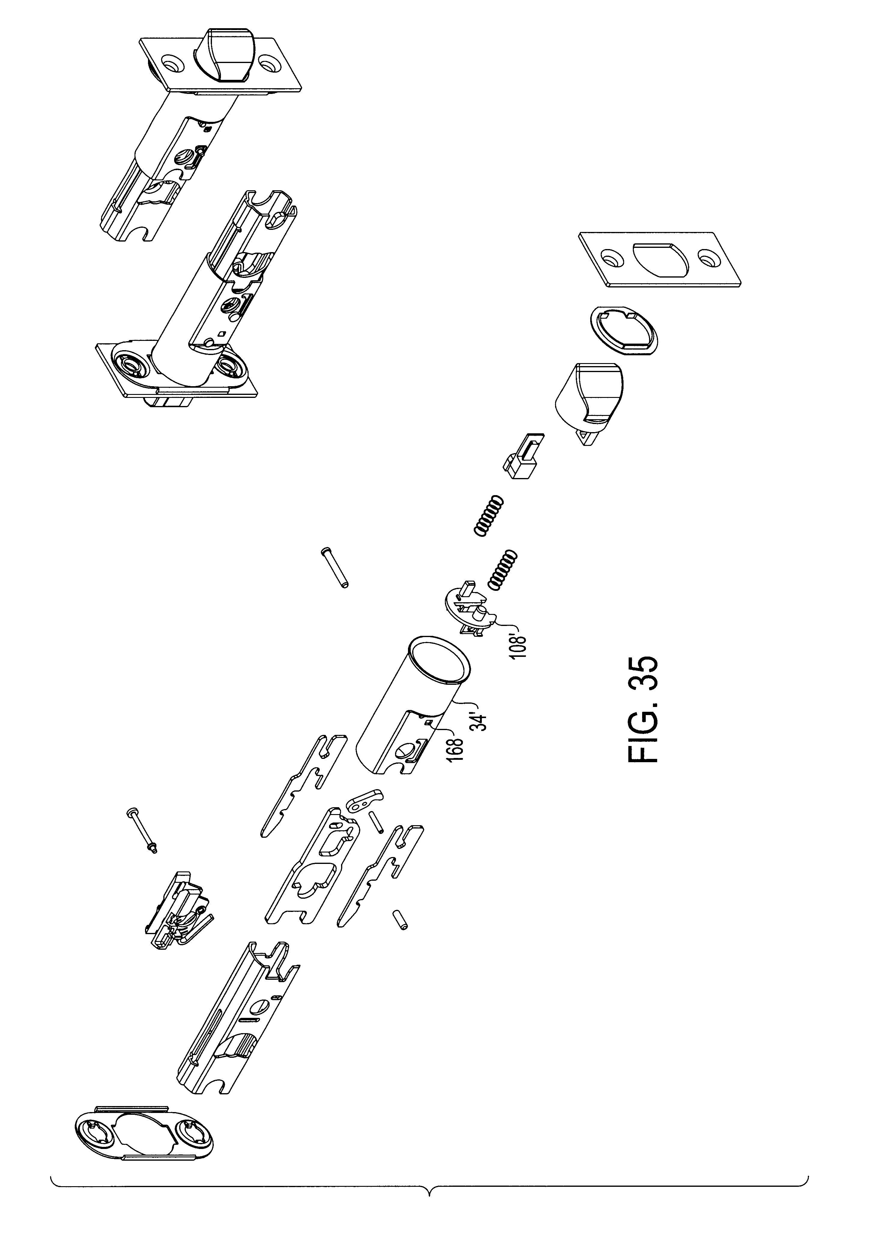 Patent US6536812 - Adjustable-backset latch system for locksets ...
