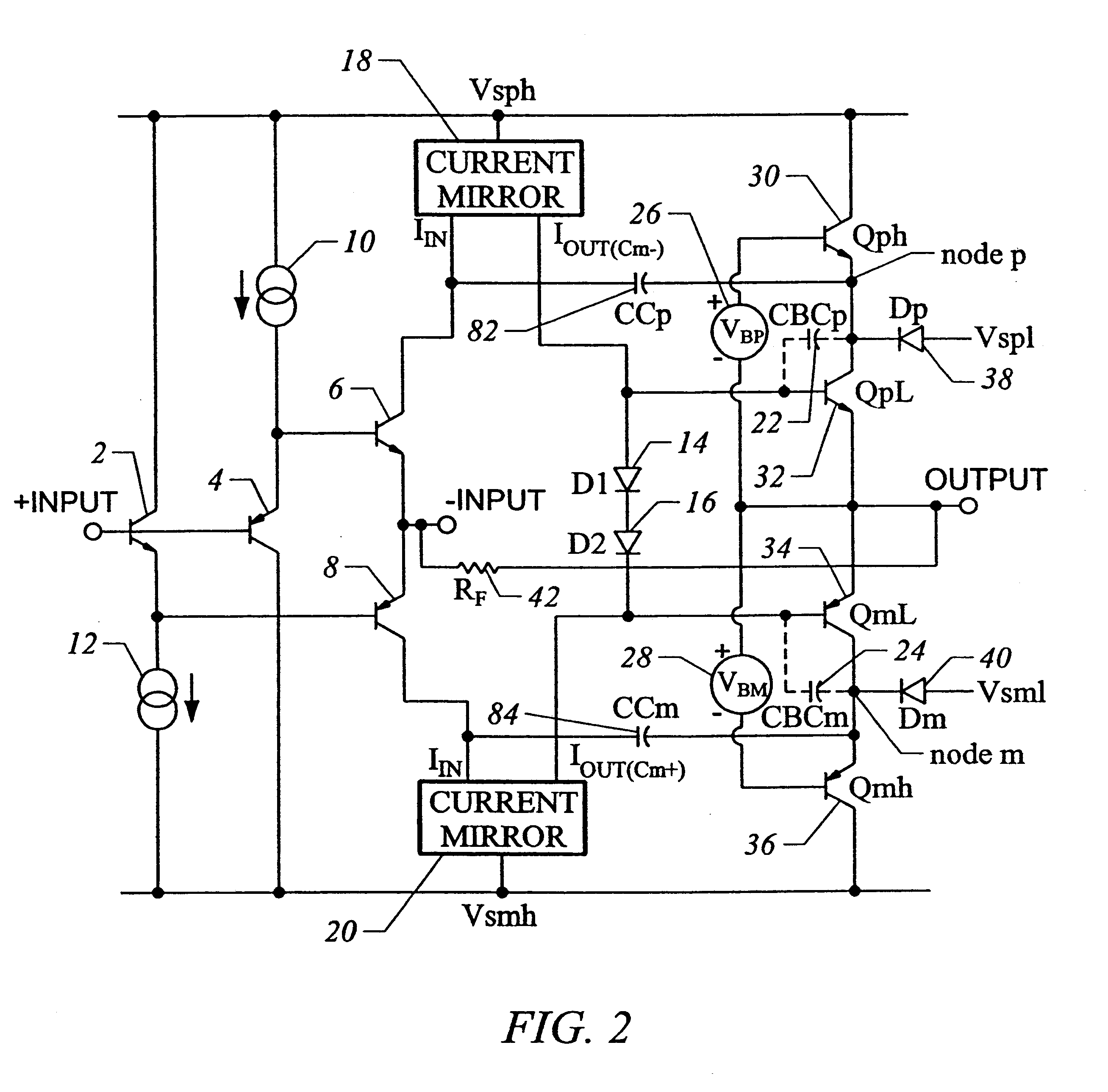 patent us6538514 - compensation method in a class-g amplifier output stage
