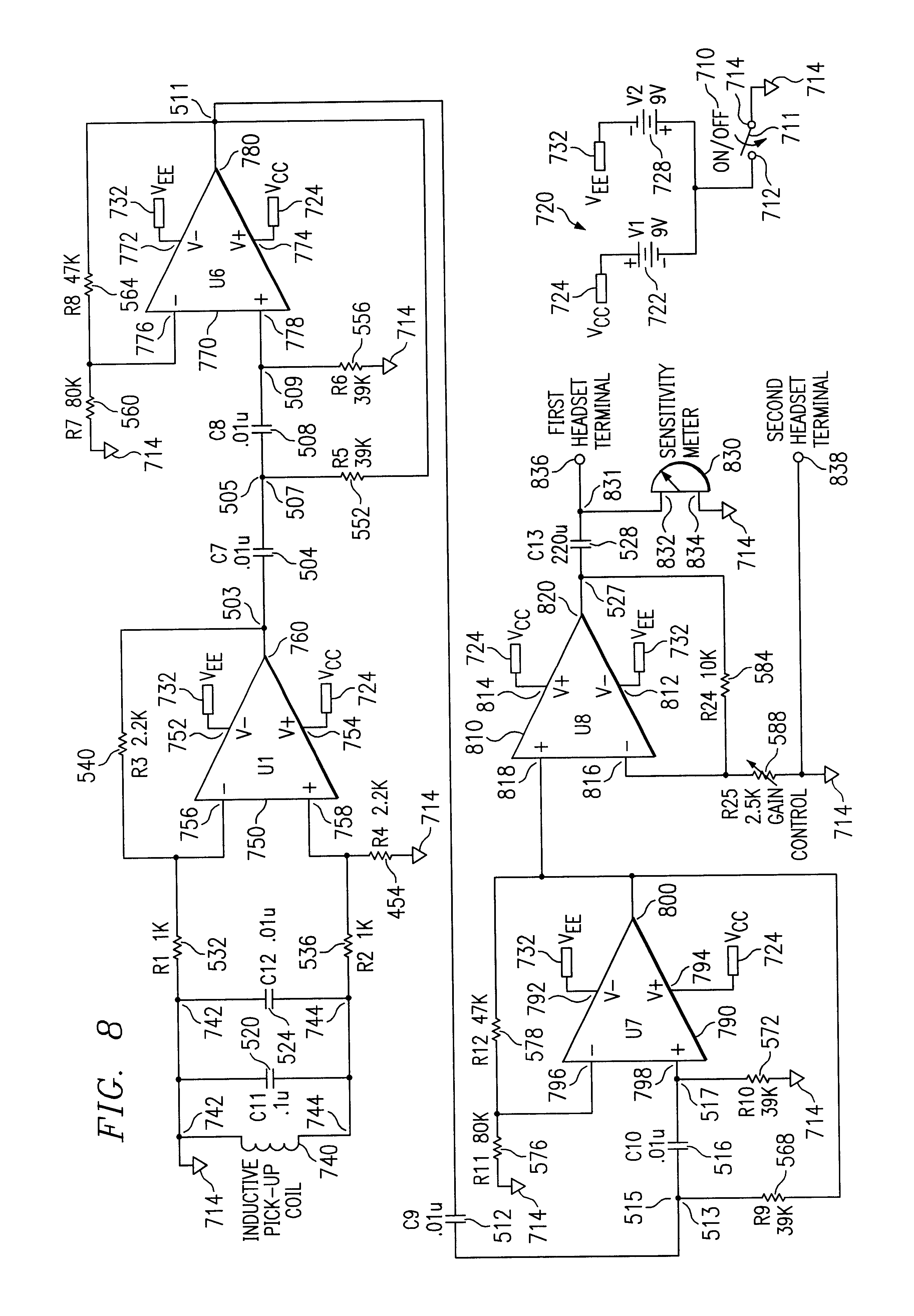 patent us6541977 - electronic water line tracer