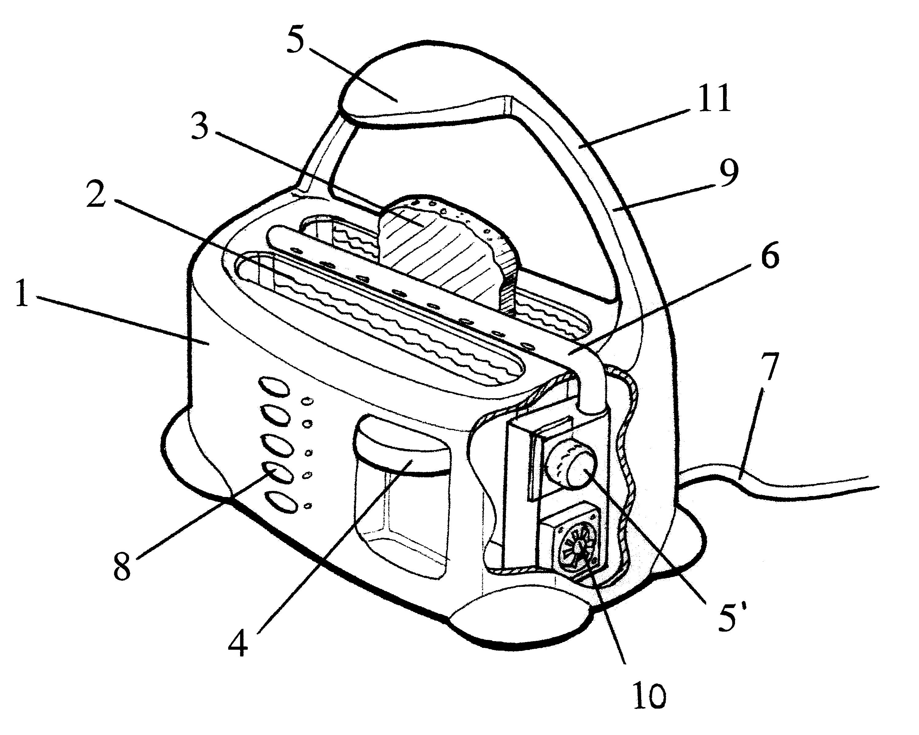 Patent US6543337 - Toasting device with browning control - Google ...