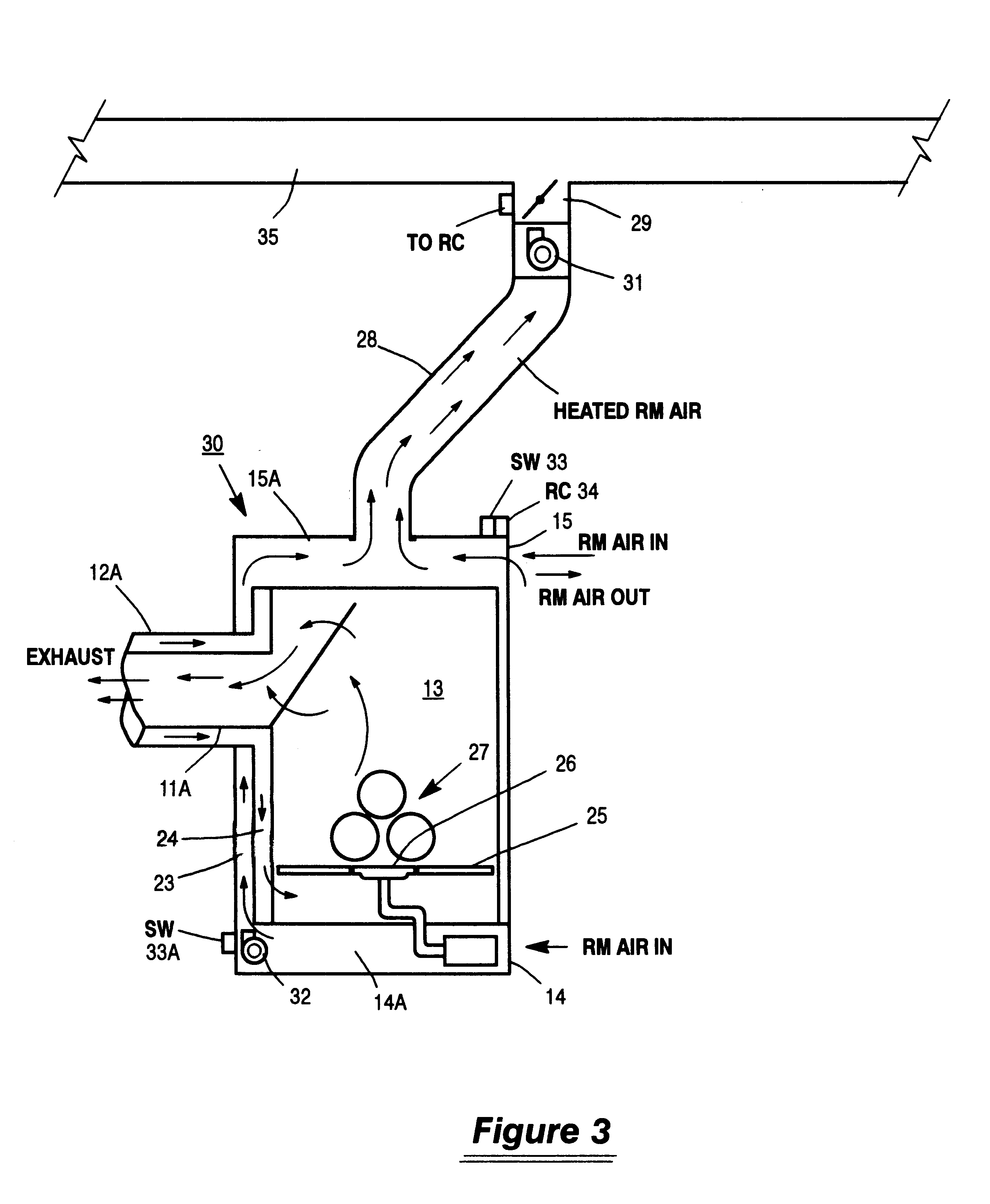 patent us6543698 fireplace make up air heat exchange system