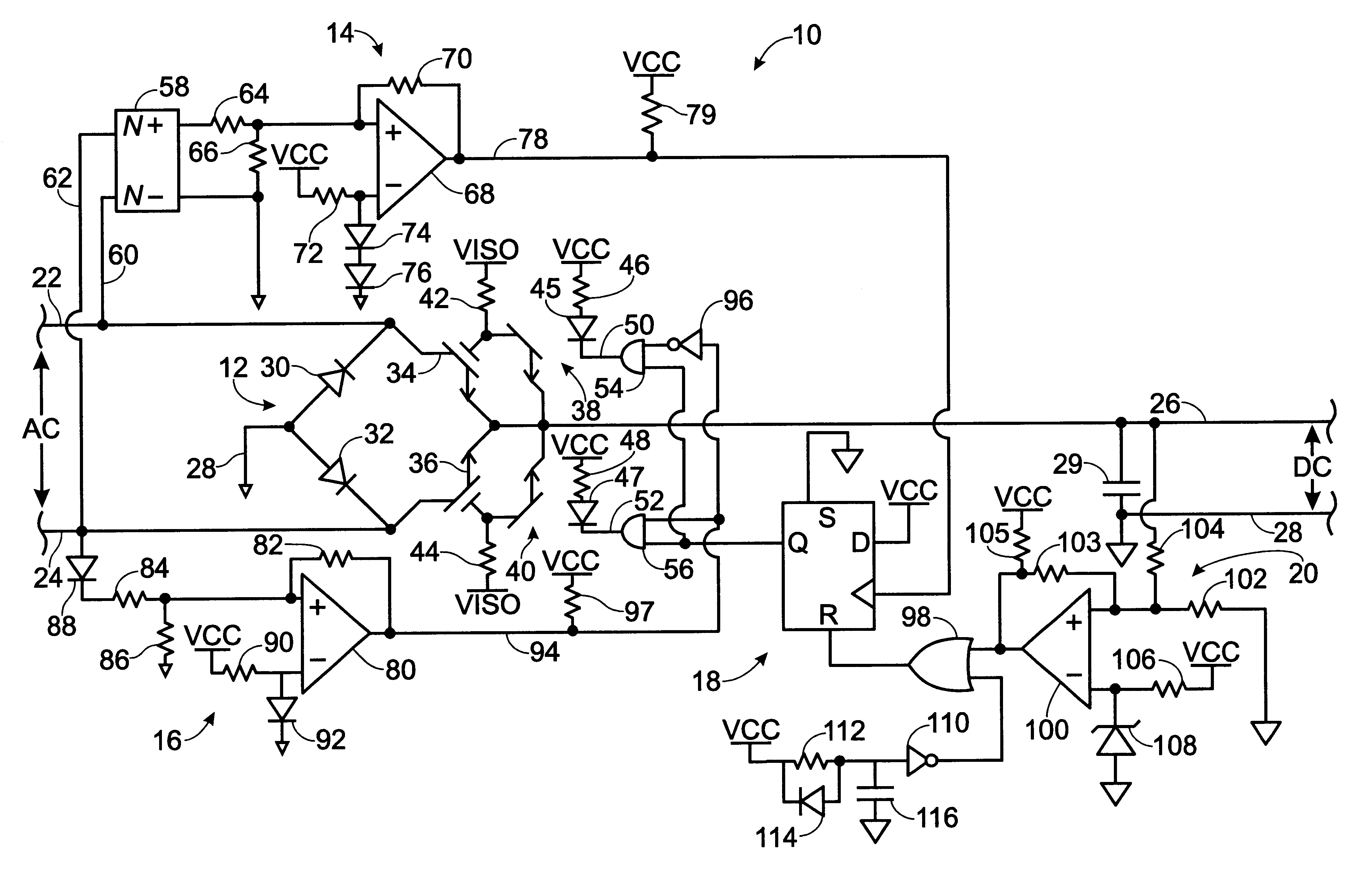 patent us6549438 - ac-to-dc converter circuit utilizing igbt u0026 39 s for improved efficiency