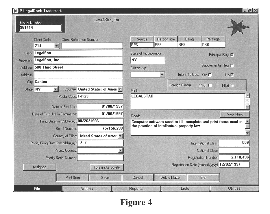 Trademark docketing system