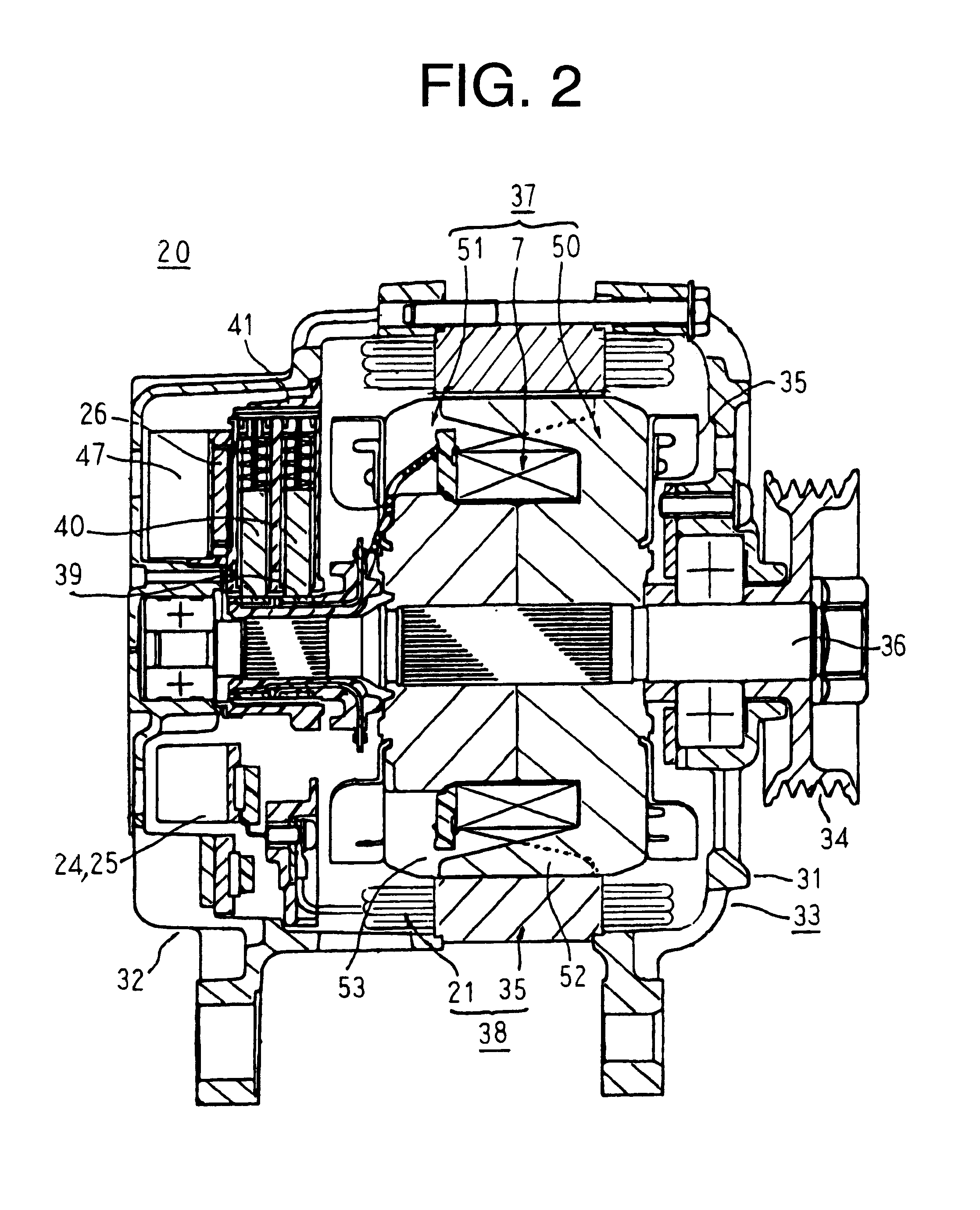 patent us6555992 automotive electric power supply assembly