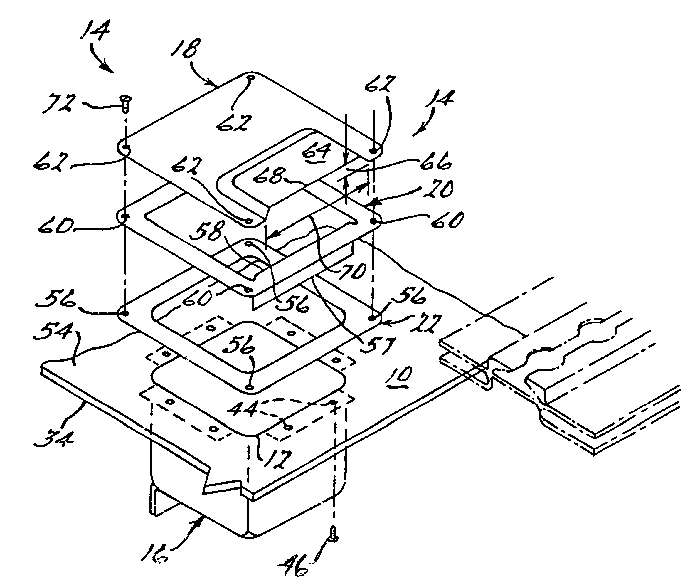 patent us6563047 aircraft junction box patents 220 Wiring Junction Box patent drawing