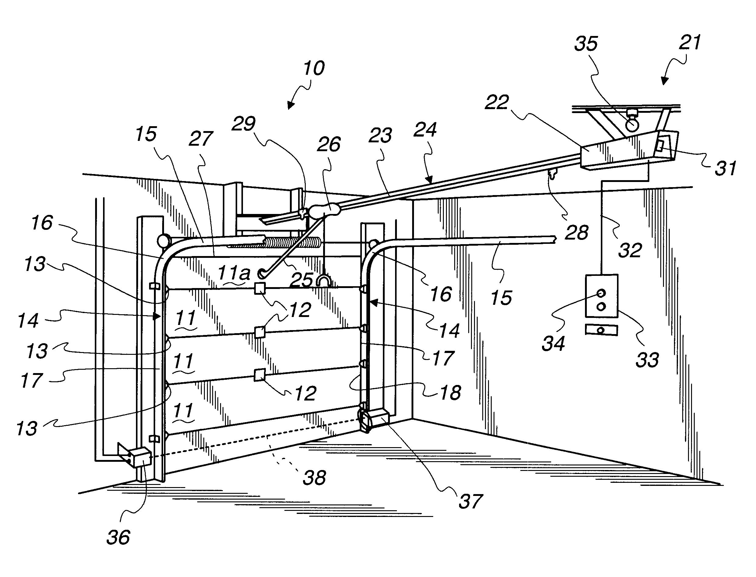 Patent Us6563278 Automated Garage Door Closer Google