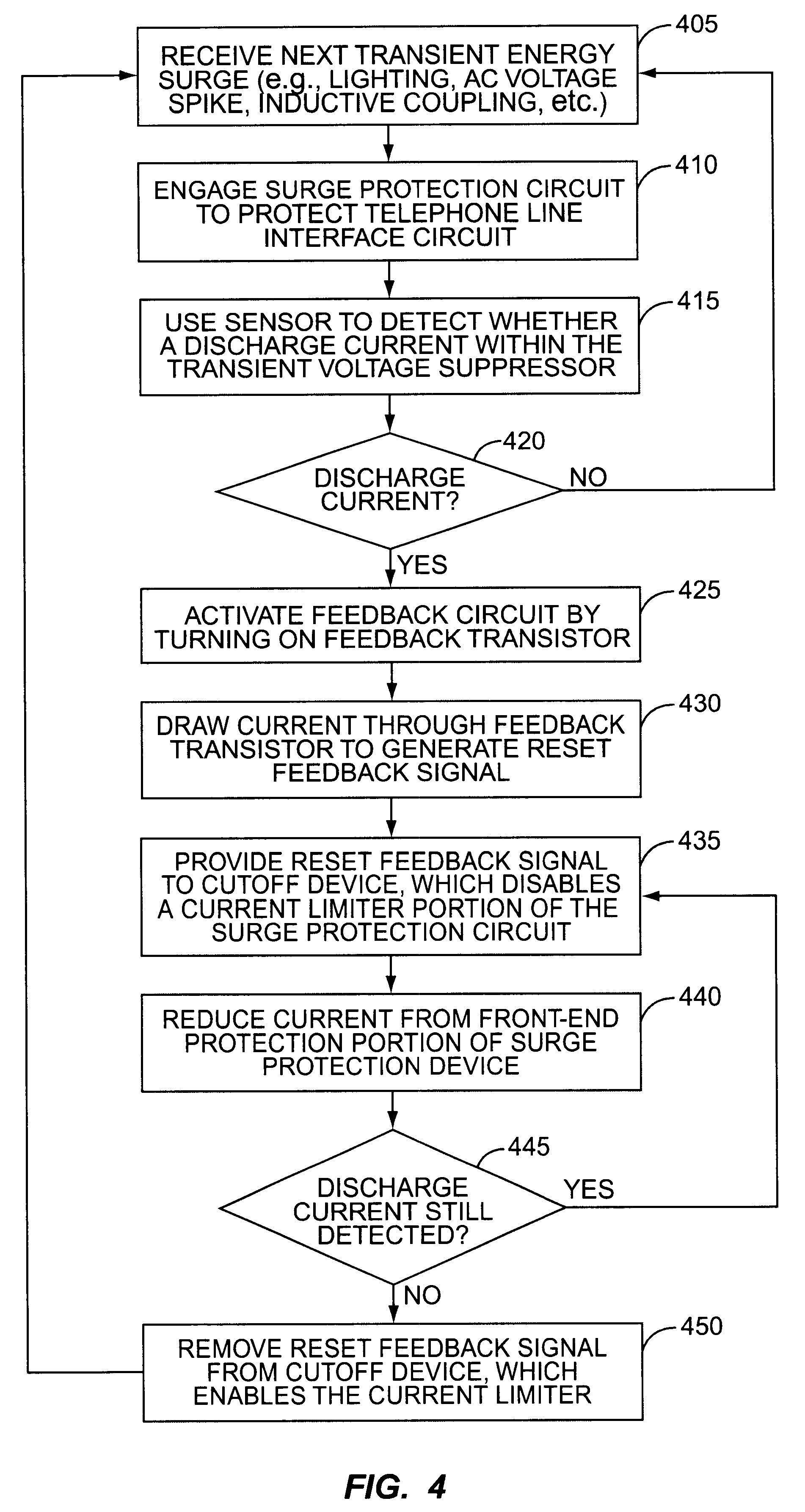 Patent Us6563926 Resetting Surge Protection In Telephone Line Sidac Basic Operation Drawing
