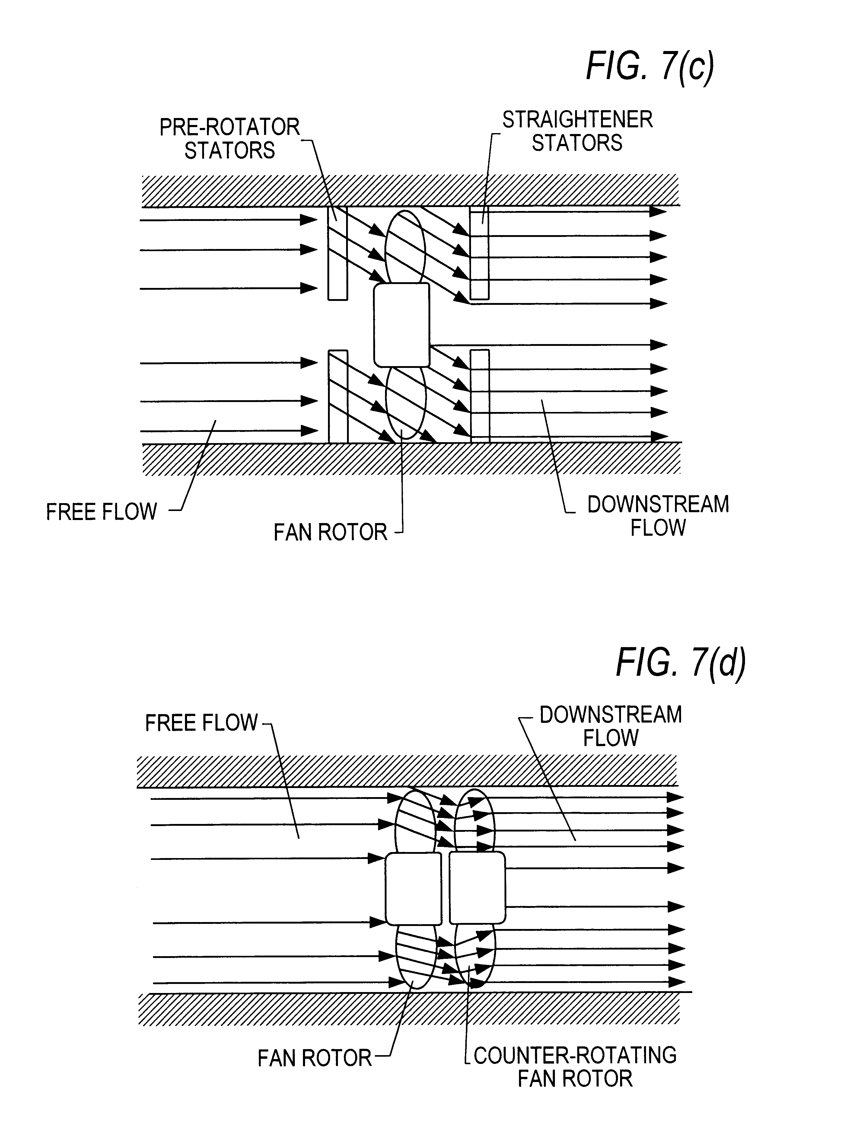Patent US6565334 Axial flow fan having counter rotating dual  #282828