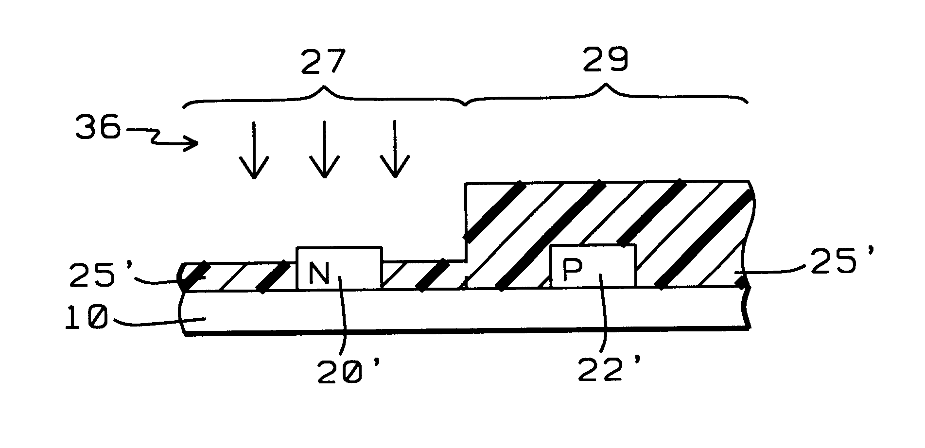 process to define n/pmos poly patterns