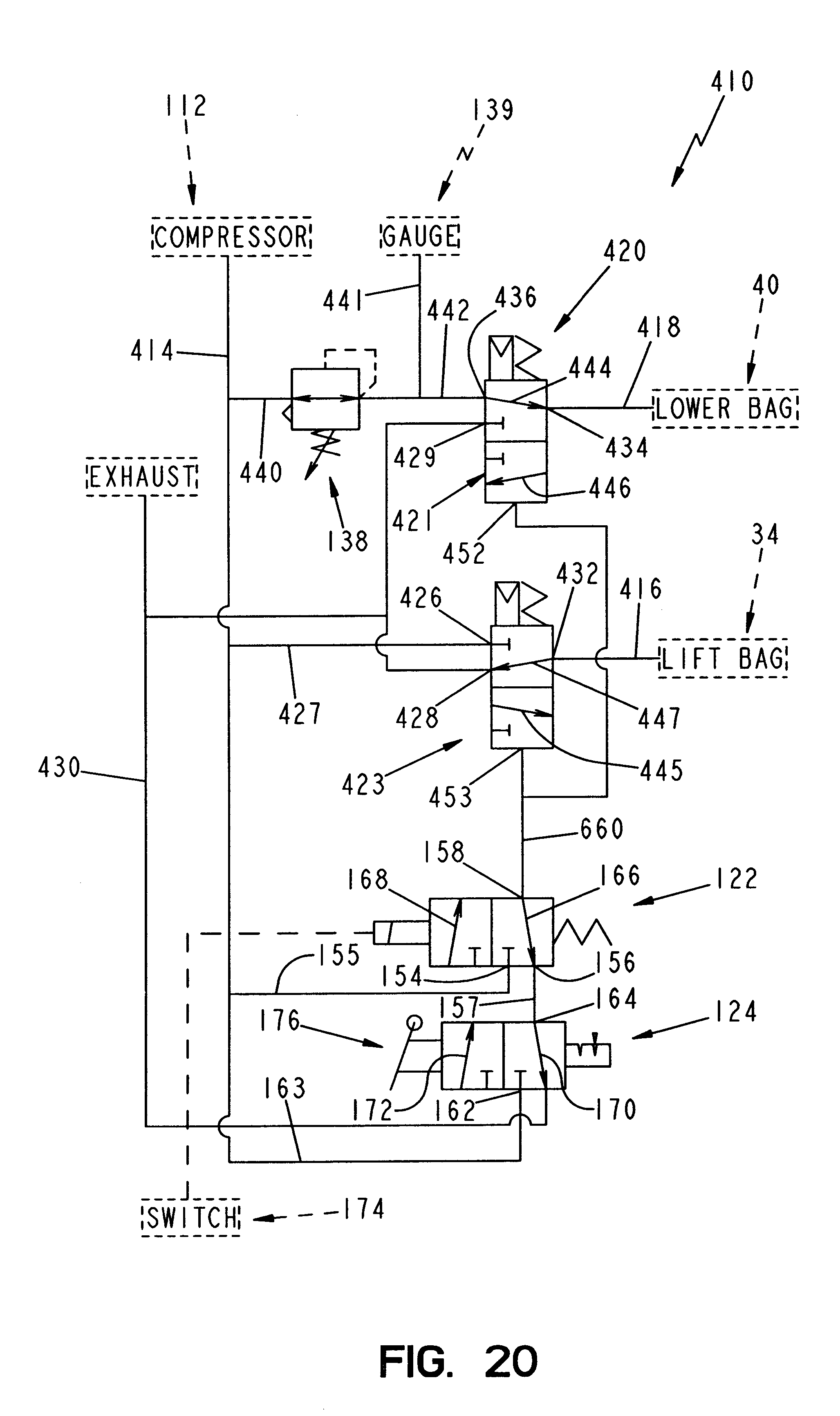 Patent Us6572124 Lift Axle Control System Google Patents Ford Focus 2 3 Engine Diagram Drawing