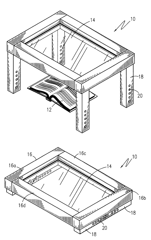 patent us6574051 - portable reading magnifier