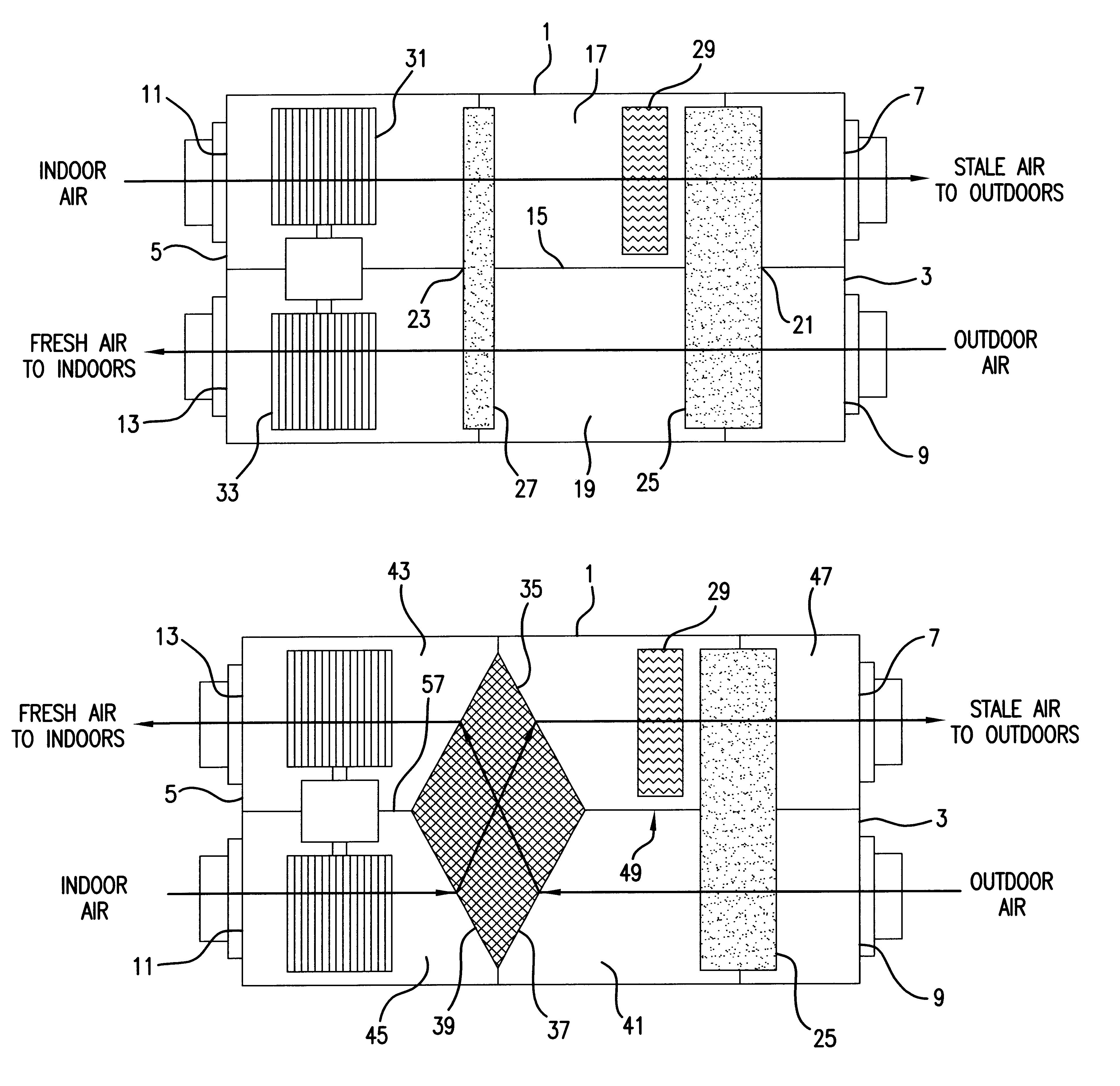 Patent Us6575228 Ventilating Dehumidifying System Google Patents Reznor Furnace Blower Wiring Diagram 1977 Drawing
