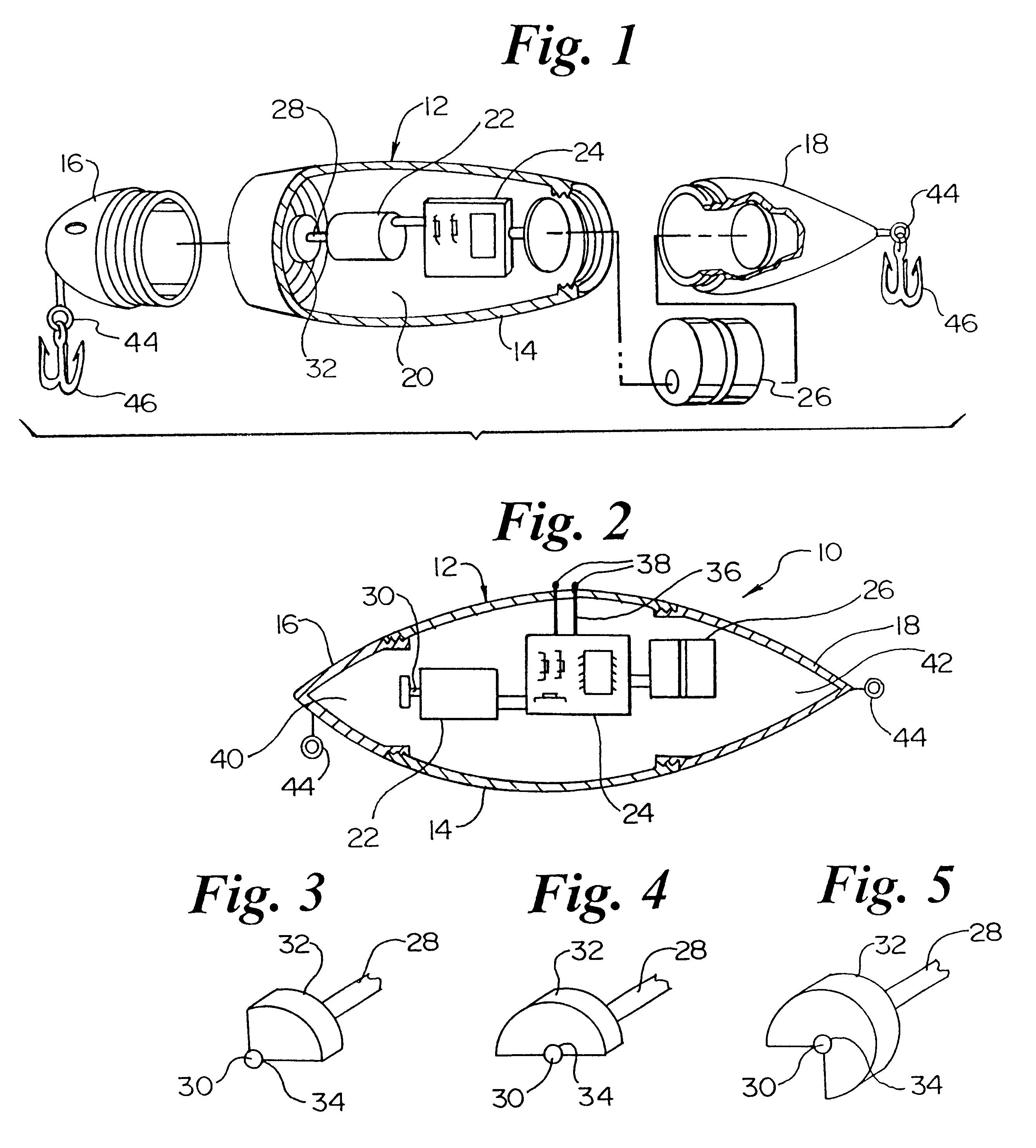 patent us6581319 - battery powered vibrating fishing lure - google, Hard Baits