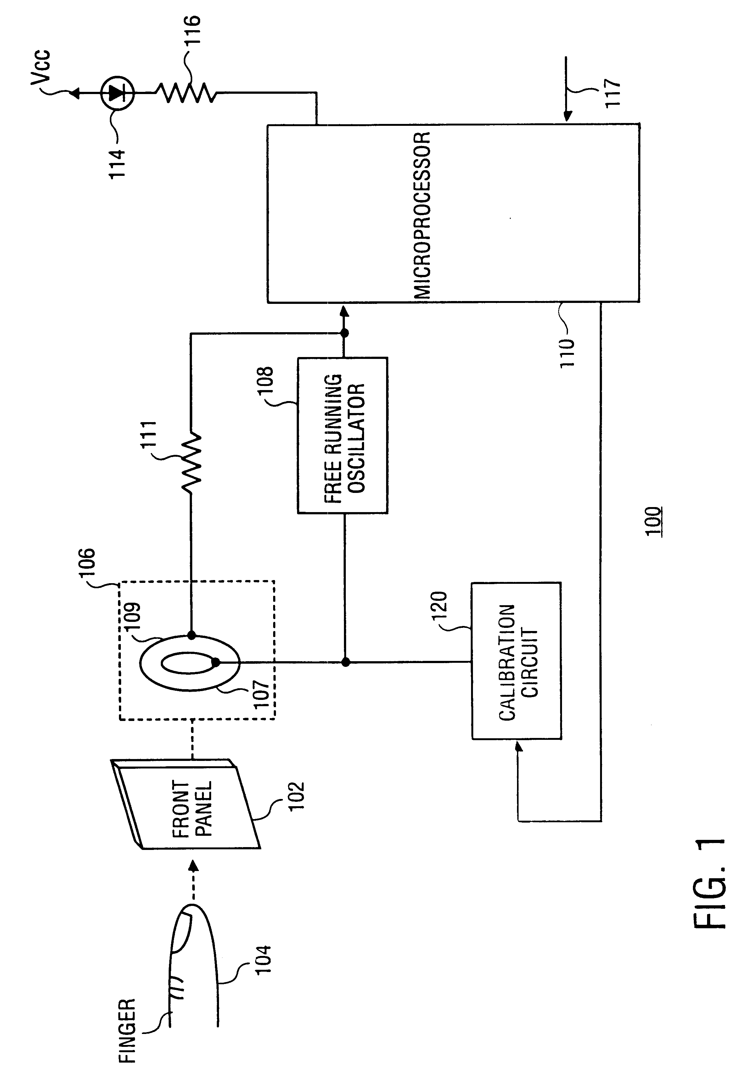 patent us6583676  touch detector and