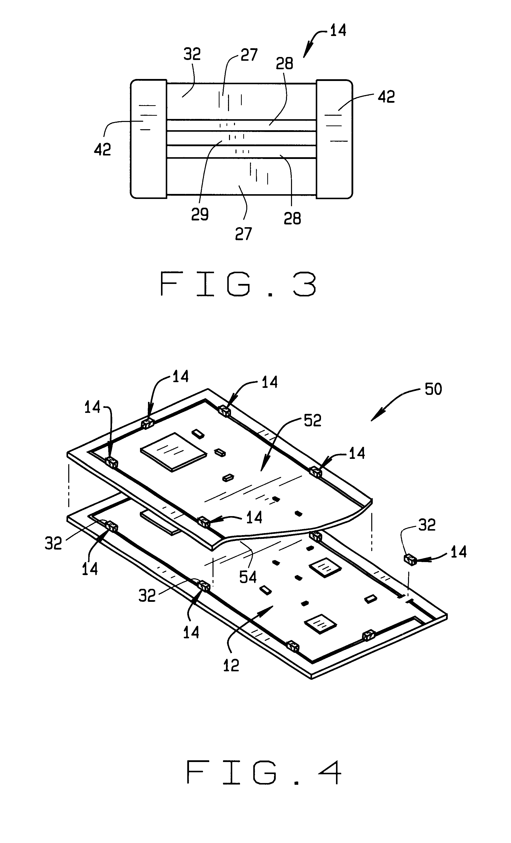 patent us6587351 - surface mount standoff for printed circuit board assembly