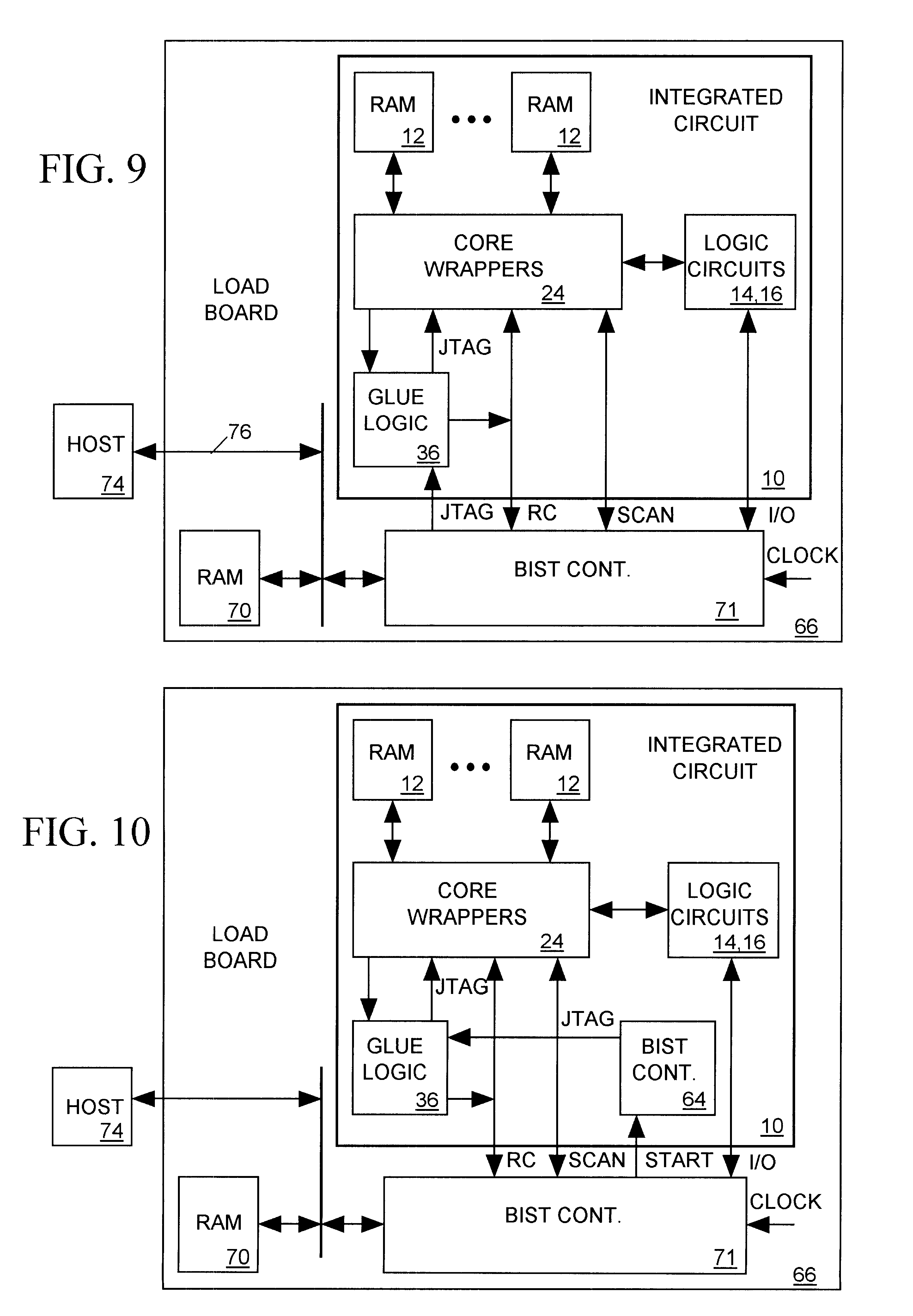 patent us6587979 - partitionable embedded circuit test system for integrated circuit
