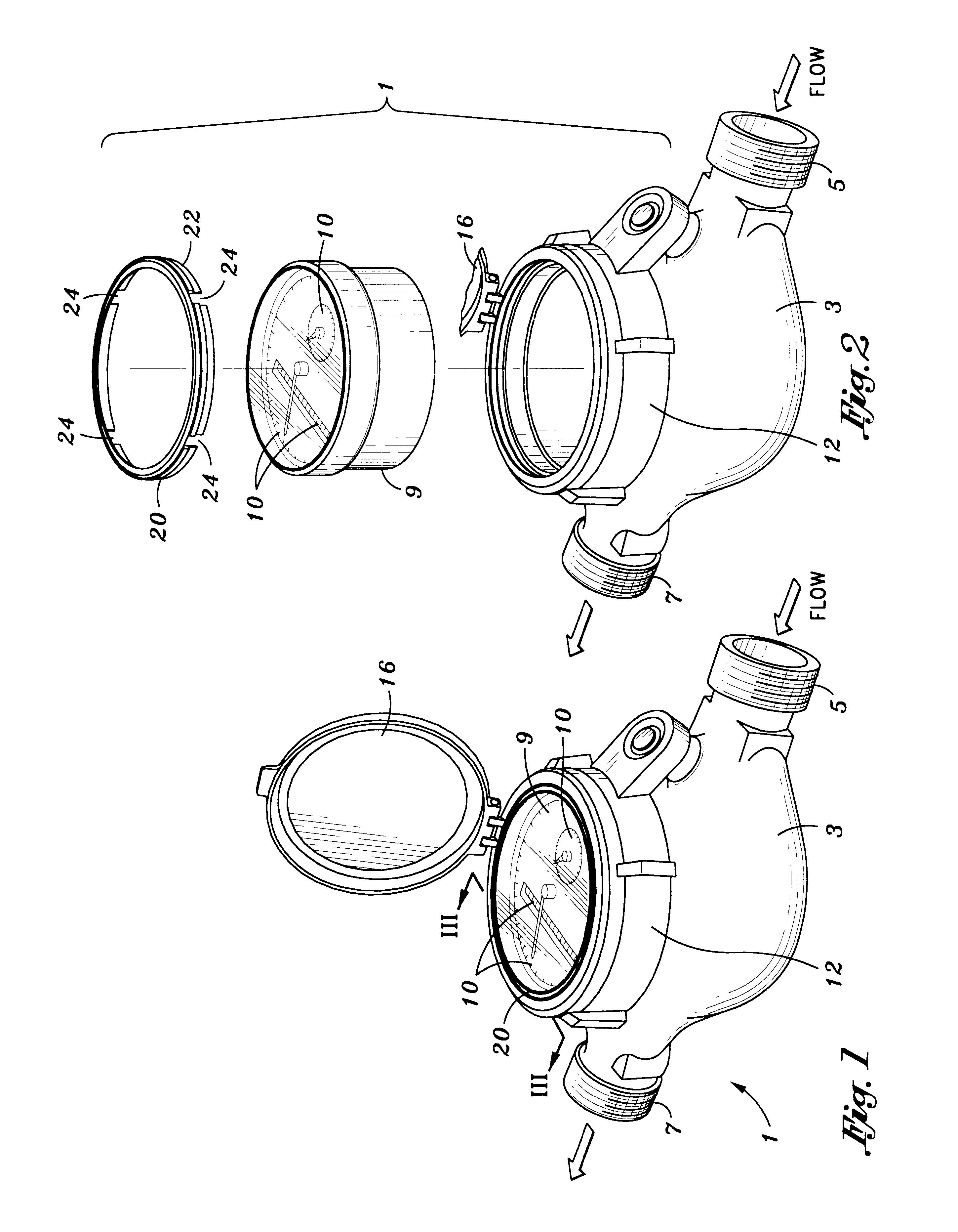 patent us6588447 breakaway water meter register