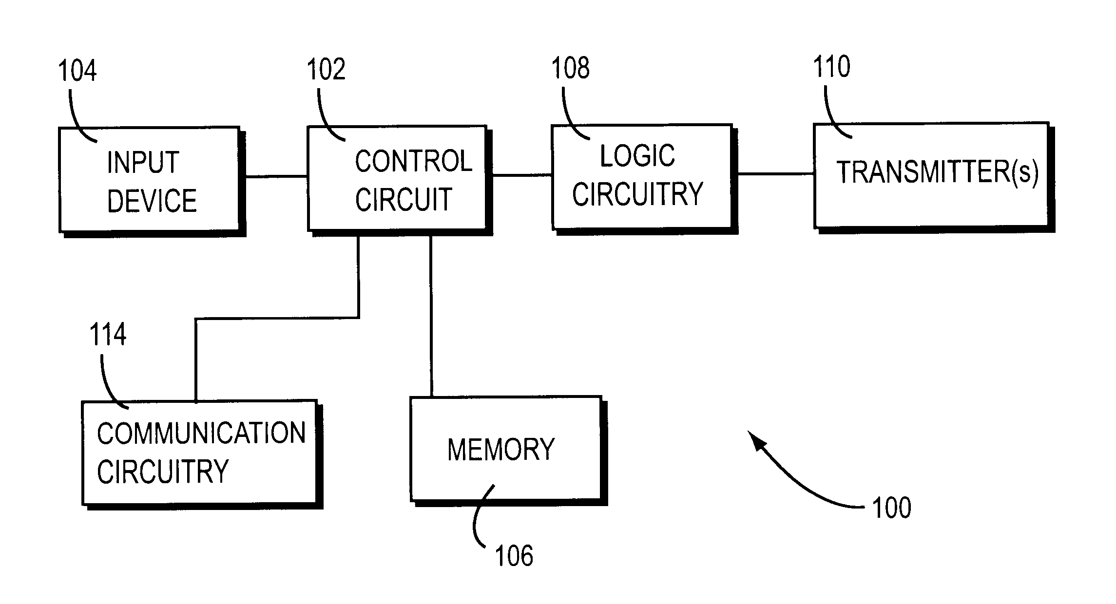 Patent Us6590503 Remote Control System Google Patents Circuit Drawing