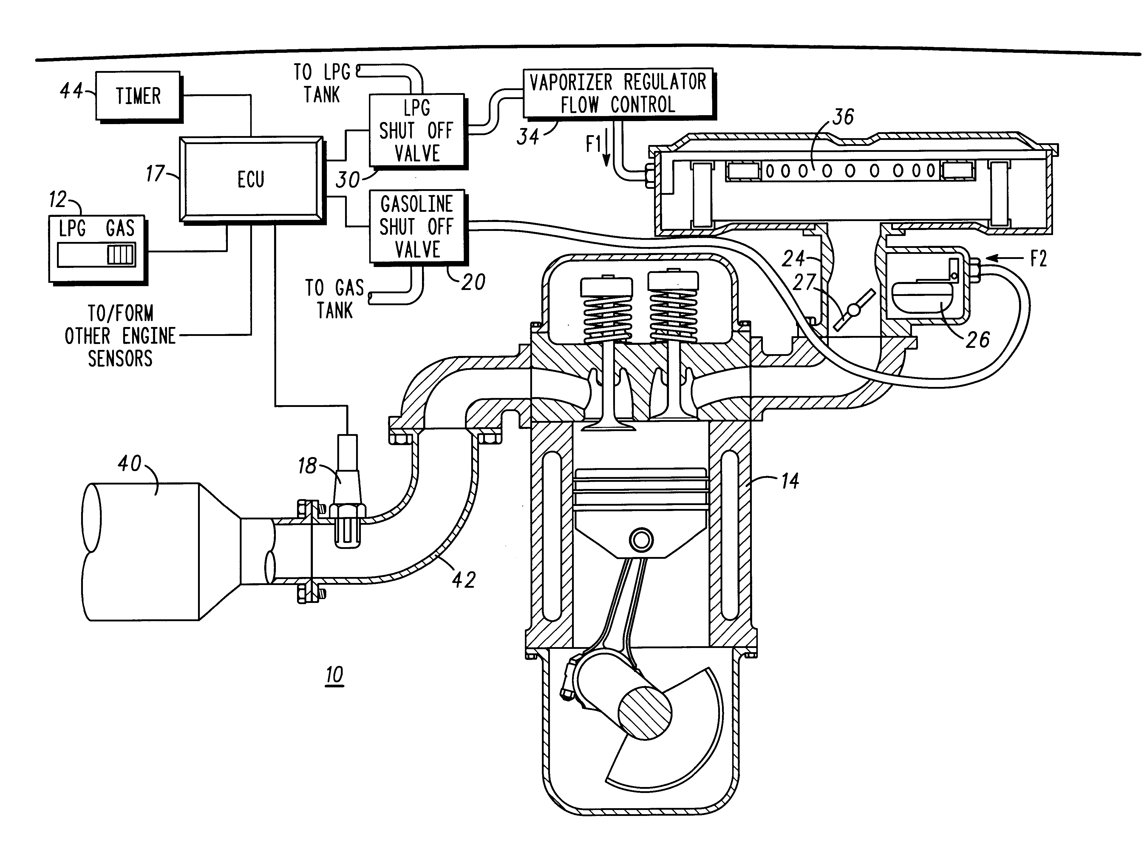 Patent US6591817 Dual fuel method and system Google Patents – Lpg Engine Diagram