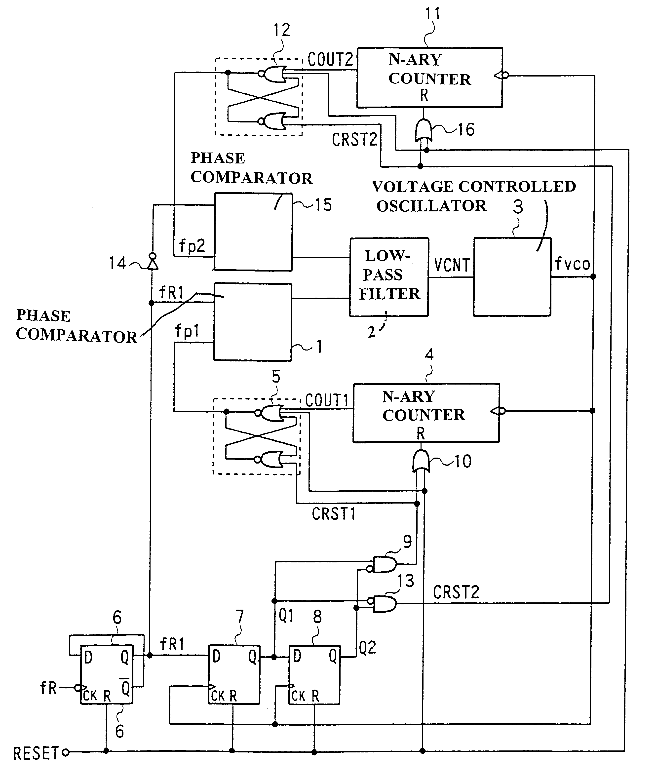 Patent Us6593787 Phase Locked Loop Circuit Google Patents Voltagecontrolled Oscillator Vco Using The Timer 555 Is Shown In Drawing