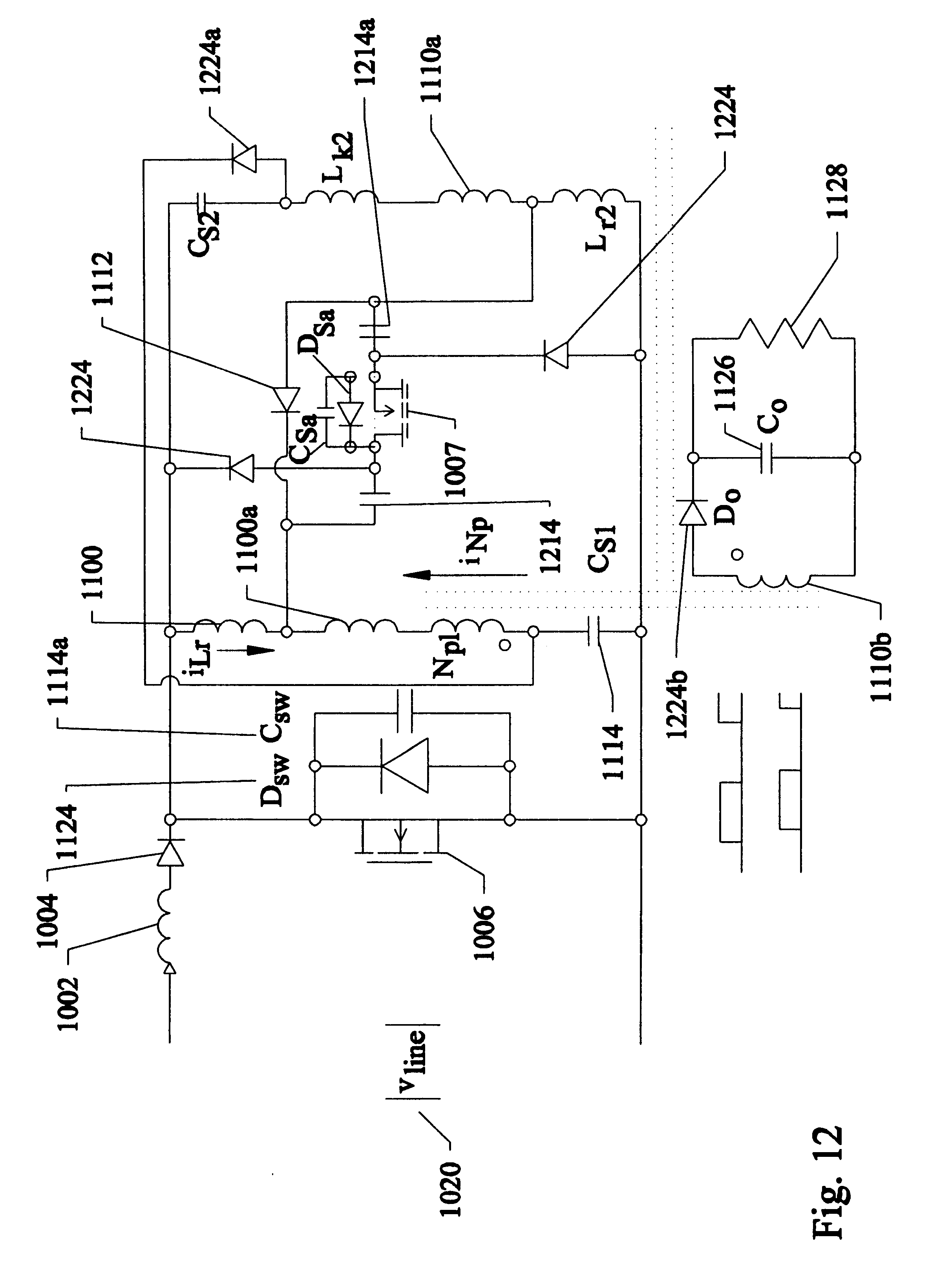 patent us6594158 - ac  dc converter with power factor correction  pfc