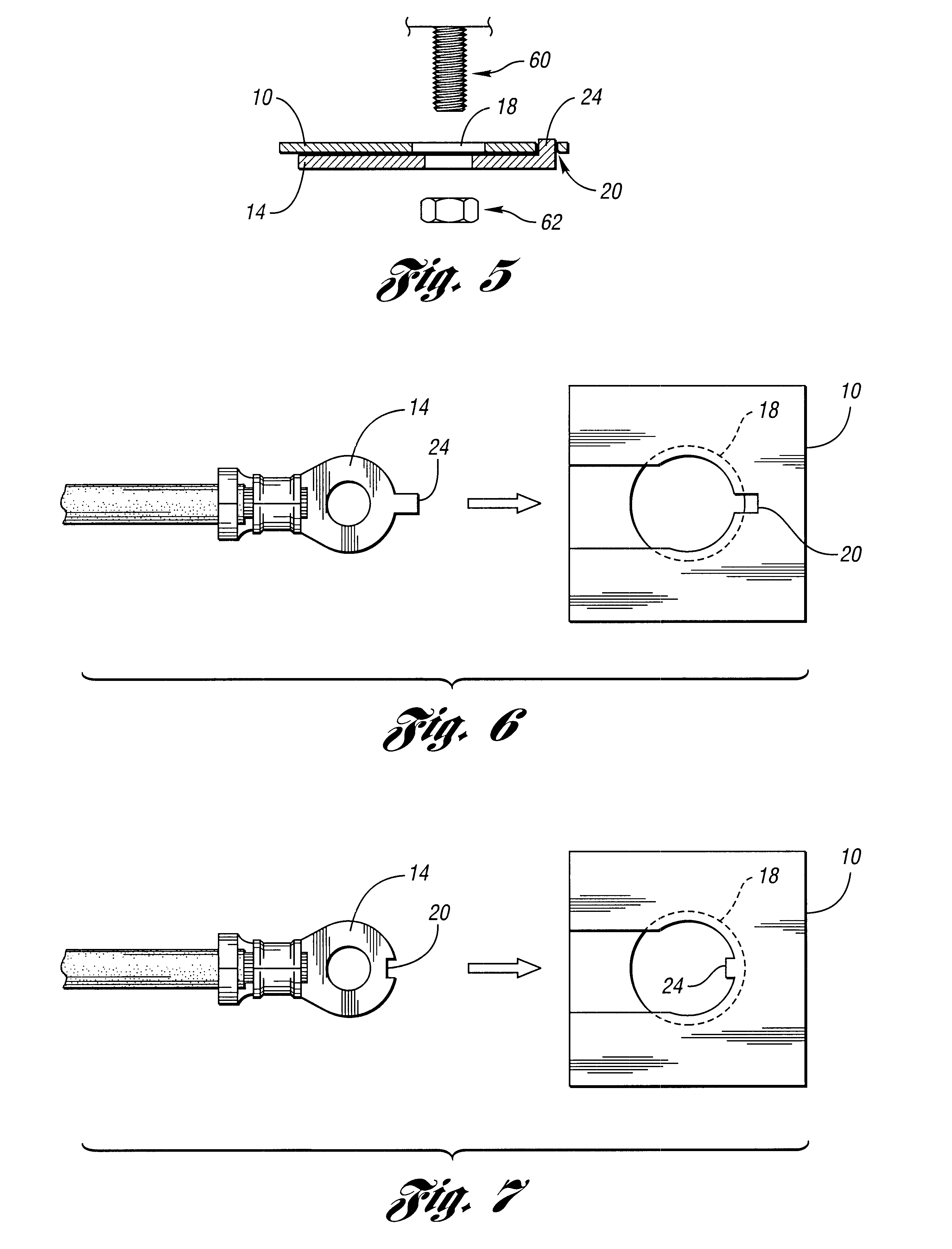 patent us6599137 combined eyelet terminal connector bracket and patent drawing