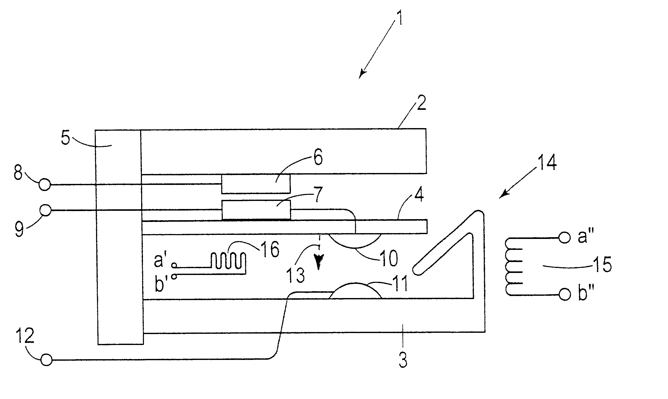 Patent Us6603386 Bi Stable Microswitch Including Shape Memory Micro Switch Diagram Drawing