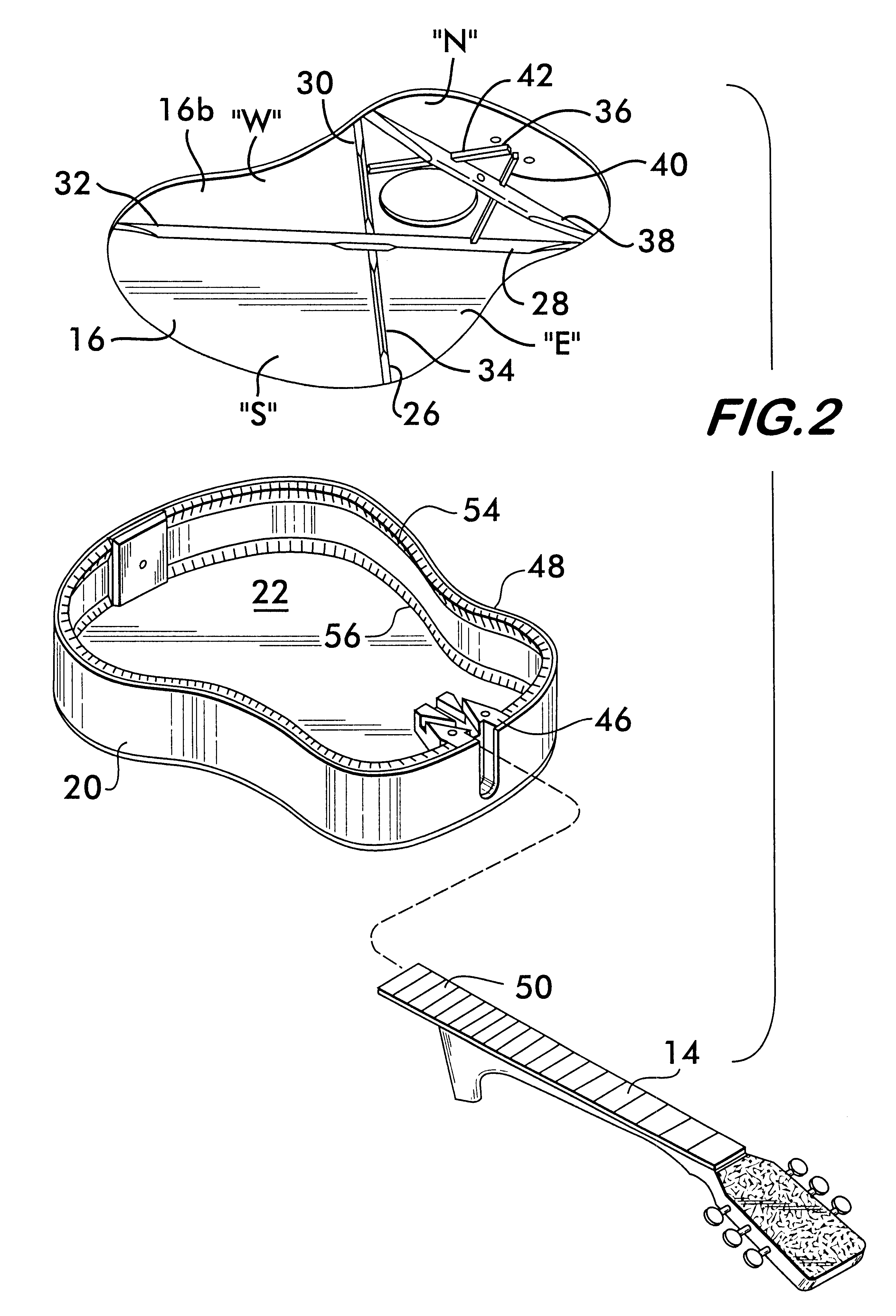 patent us6605766 - acoustic guitar assembly