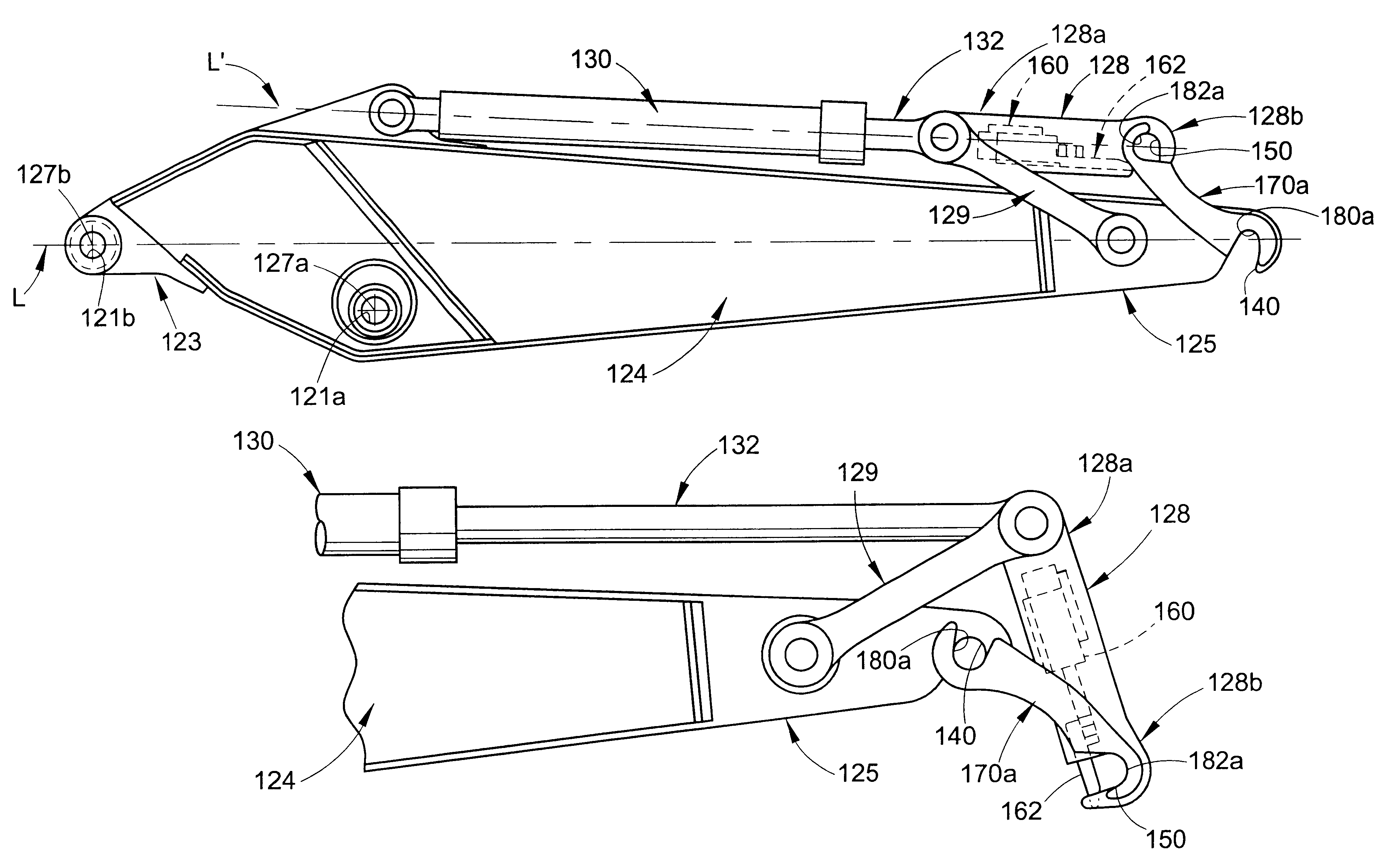 Patent us6606805 excavator arm assembly with integral quick patent drawing sciox Choice Image