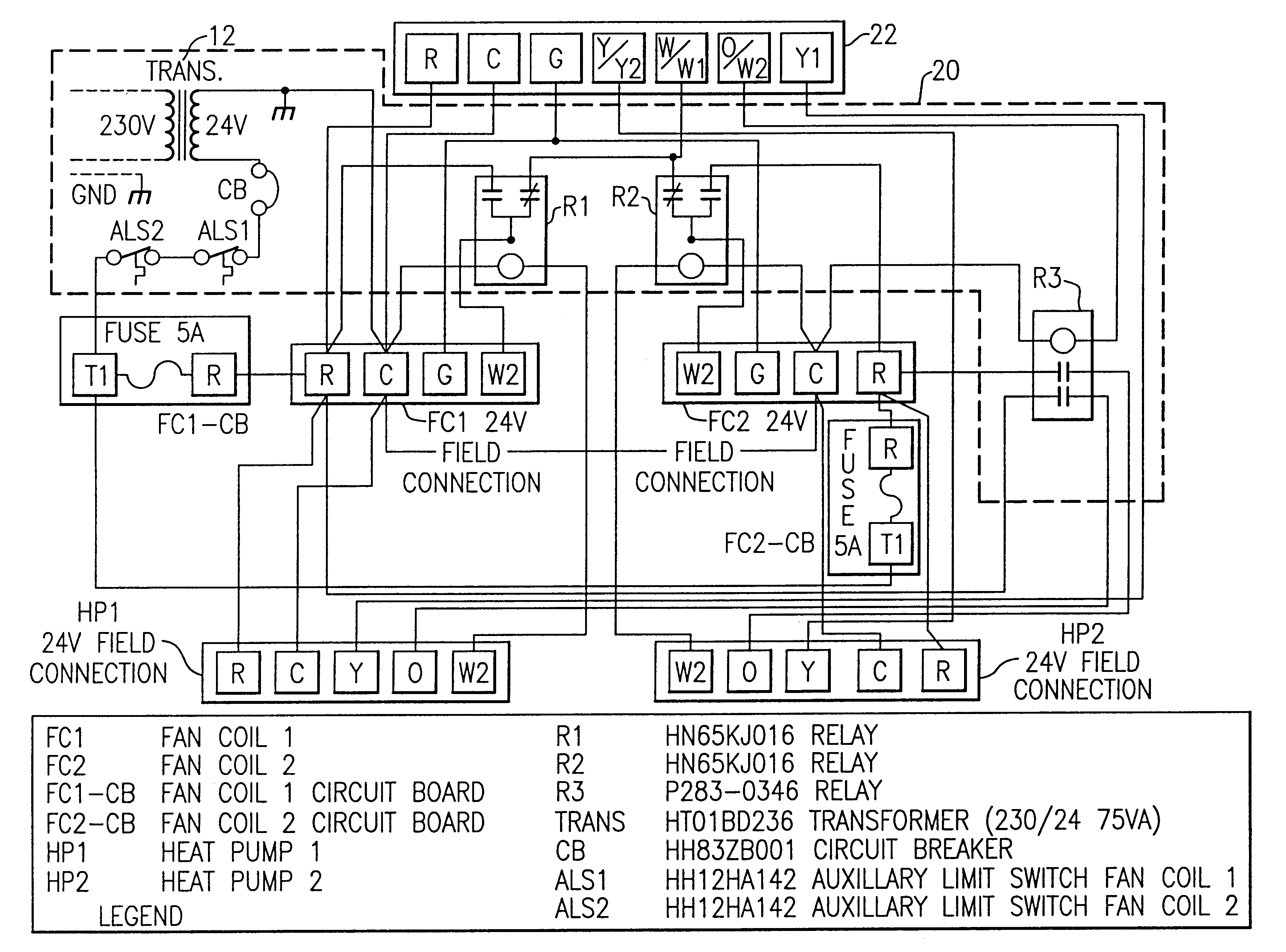 US6606871 on wiring diagram for honeywell thermostat with heat pump